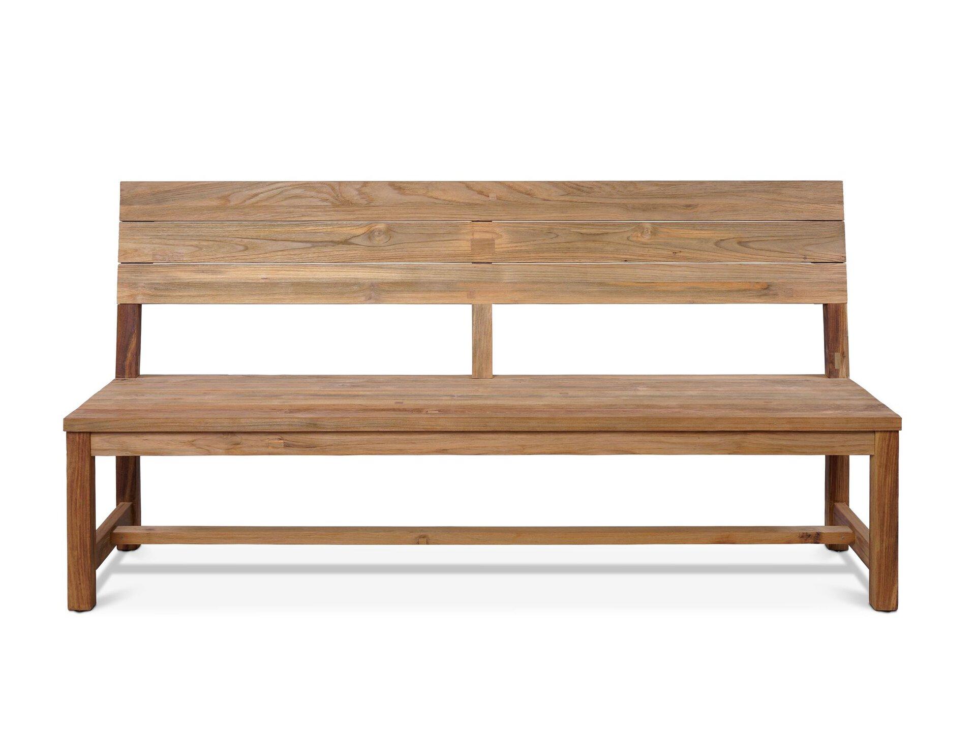 Gartenbank Oxford Outdoor Holz braun 48 x 90 x 110 cm