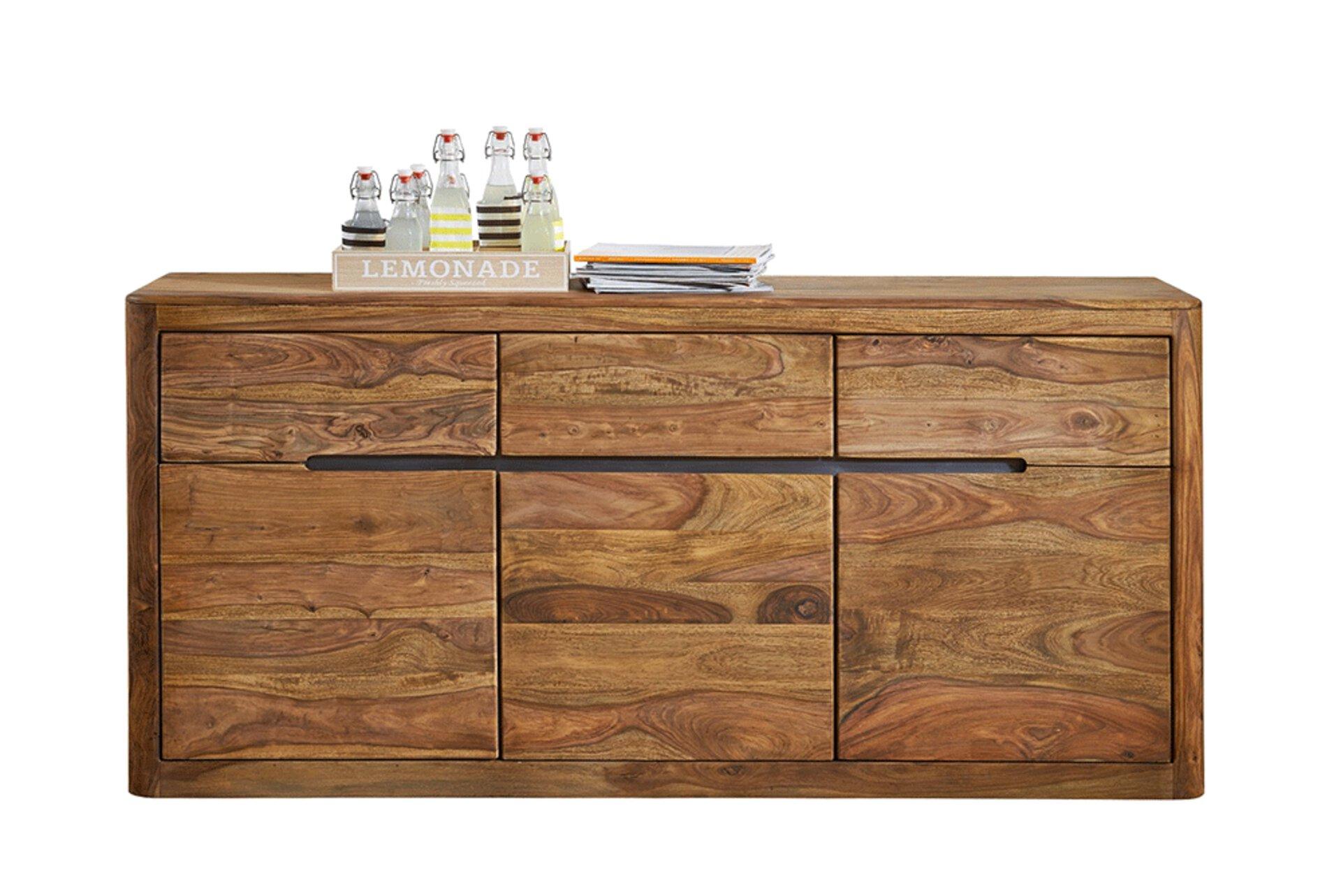 Sideboard WZ-0104 Dinett Holz braun 40 x 85 x 177 cm