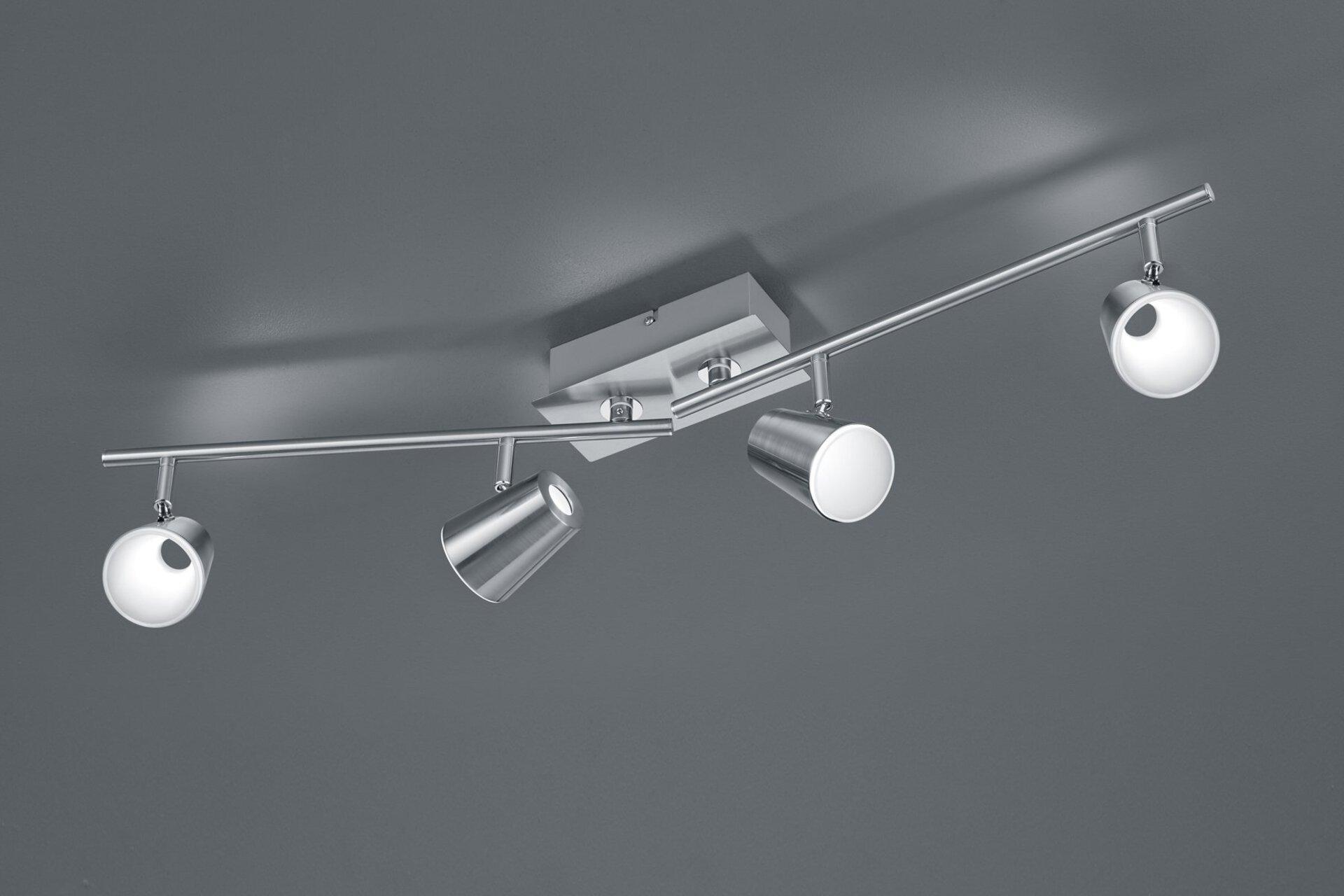 Deckenleuchte Narcos Trio Leuchten Metall silber 20 x 82 cm