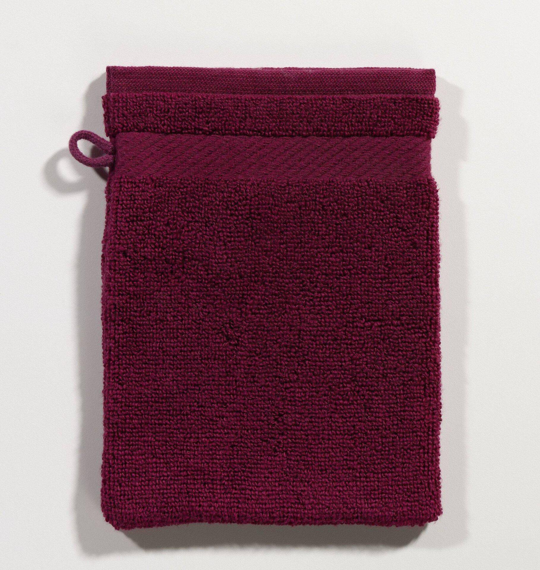 Waschhandschuh Micro Baumwolle Casa Nova Textil rot 16 x 21 cm