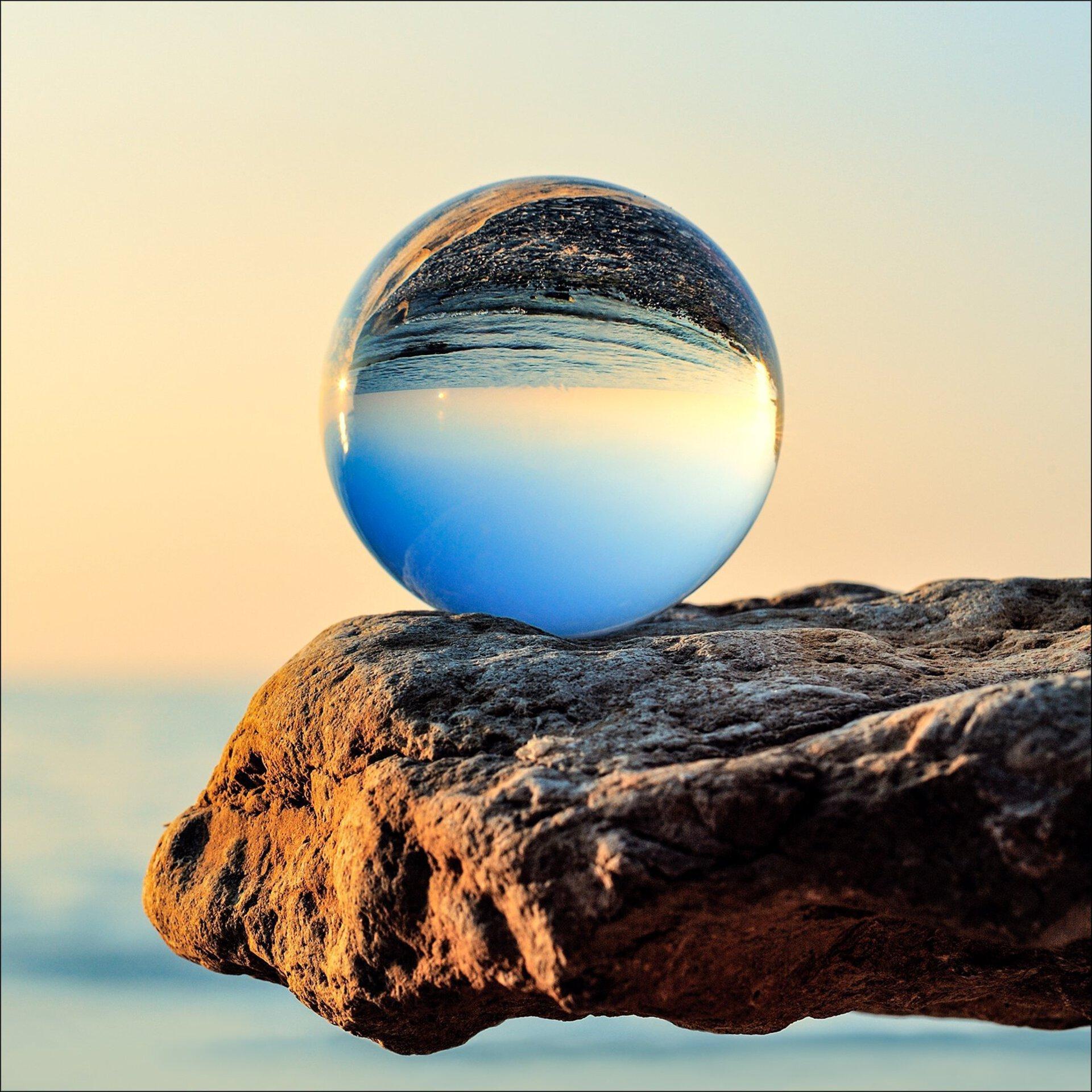 Bild Blue Drop Pro-Art Glas 50 x 50 x 1 cm