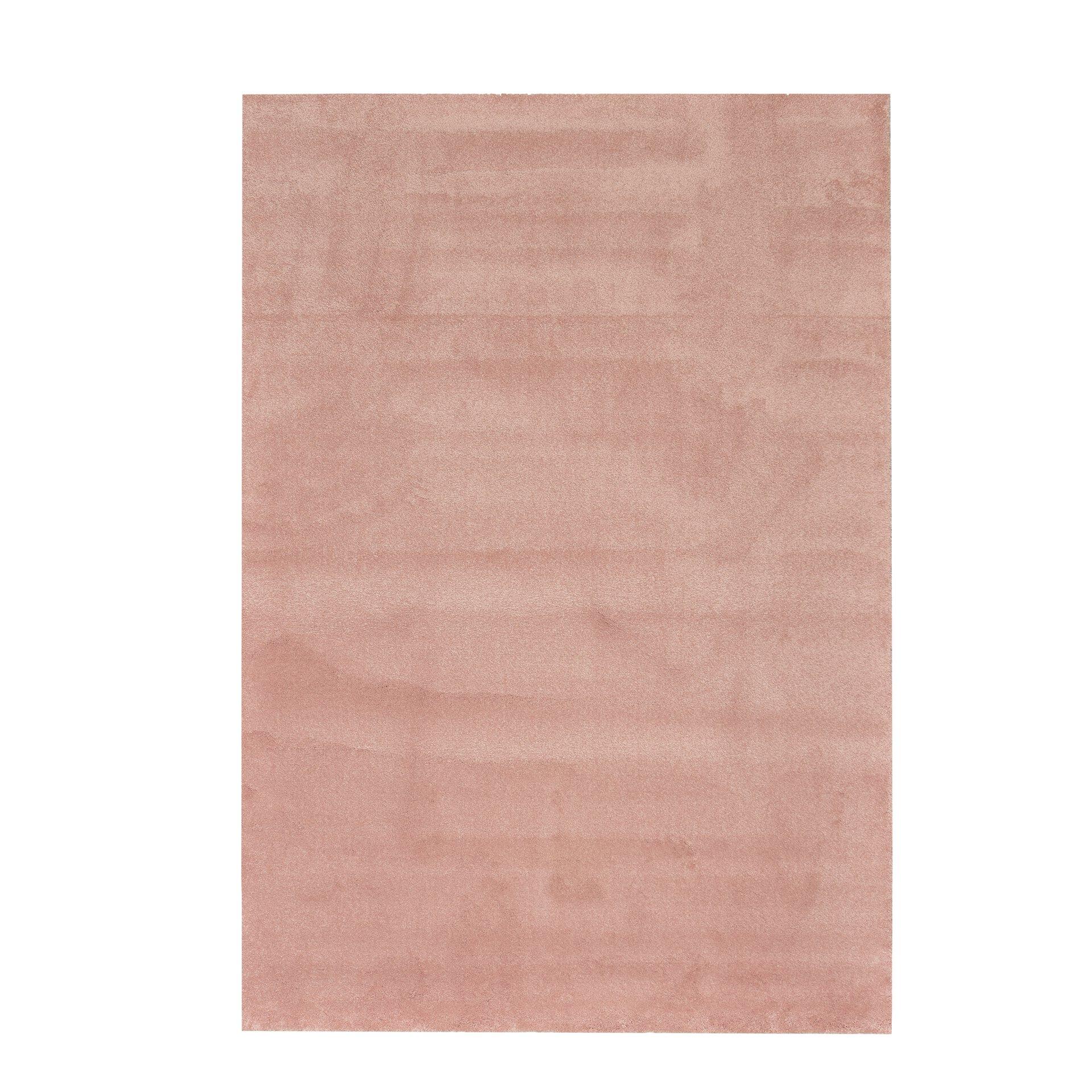 Maschinenwebteppich Montana BG Sense merinos Textil rosa 1 x 1 cm