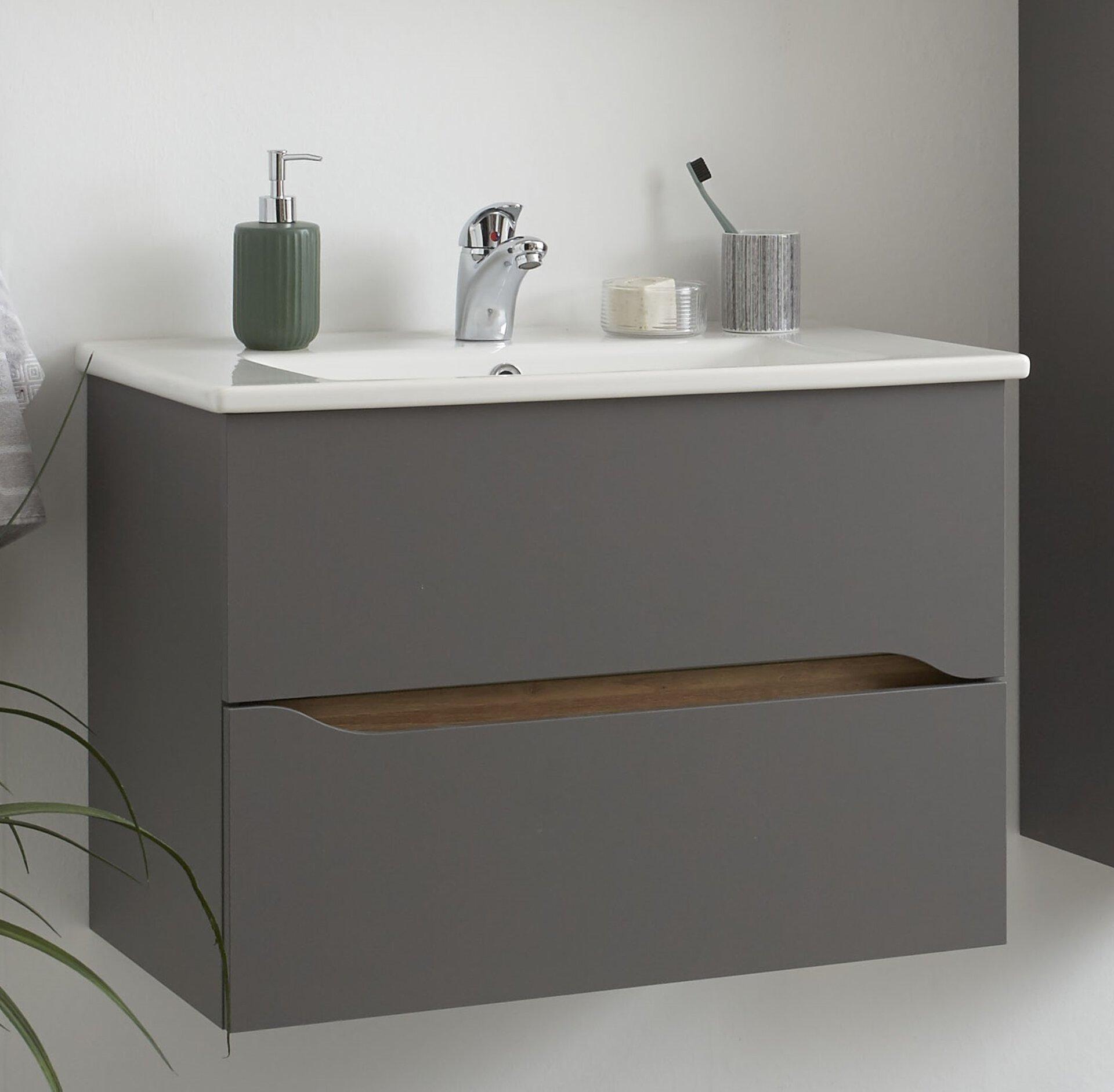 Waschtischunterschrank Capri PELIPAL Holzwerkstoff grau