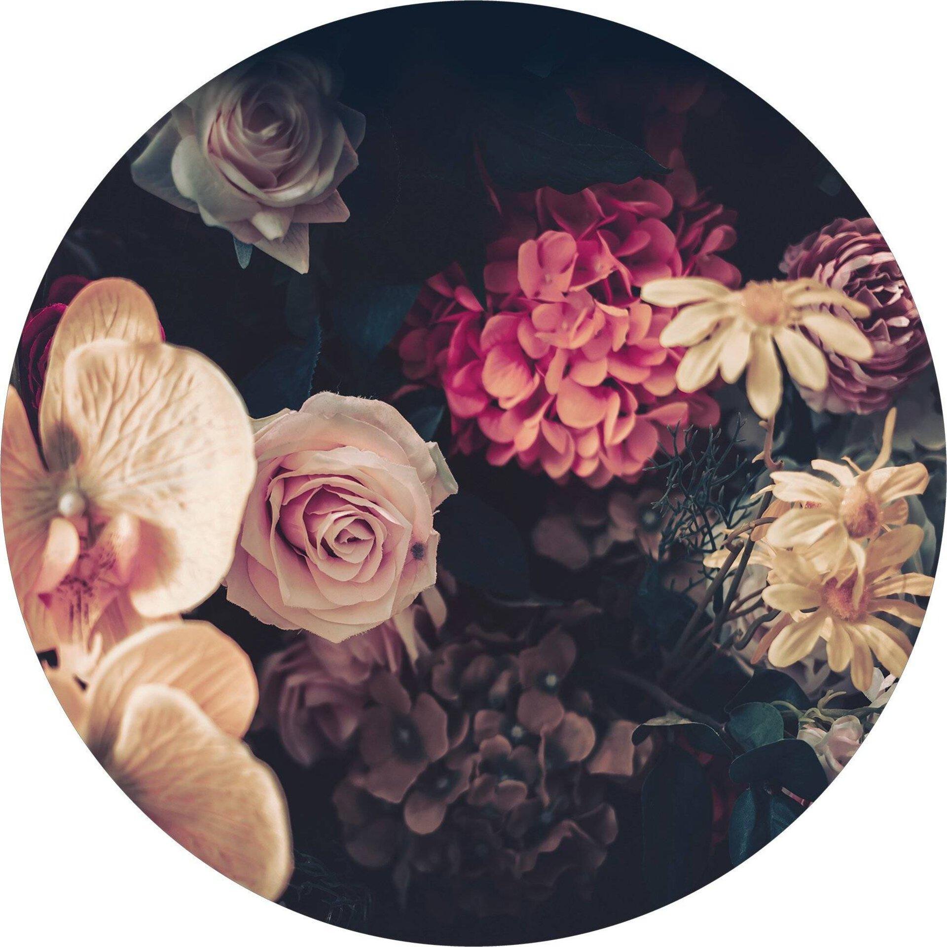 Bild Baroque Flowers II Pro-Art Glas mehrfarbig 20 x 20 x 1 cm