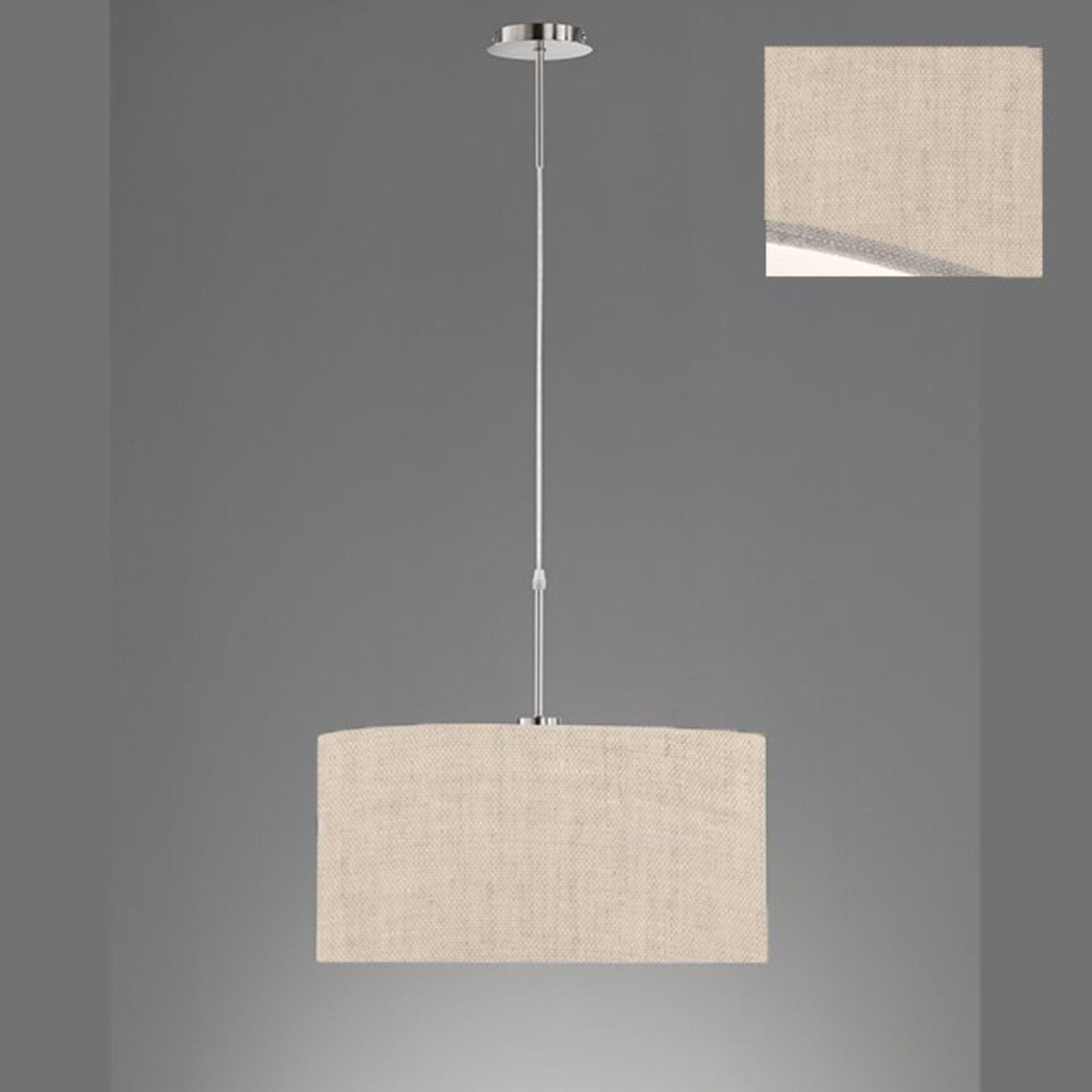 Hängeleuchte Marie Fischer-Honsel Textil beige 50 x 140 x 50 cm