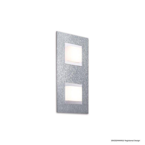 Wandleuchte Grossmann  Metall alu ca. 15 cm x 5 cm x 30 cm