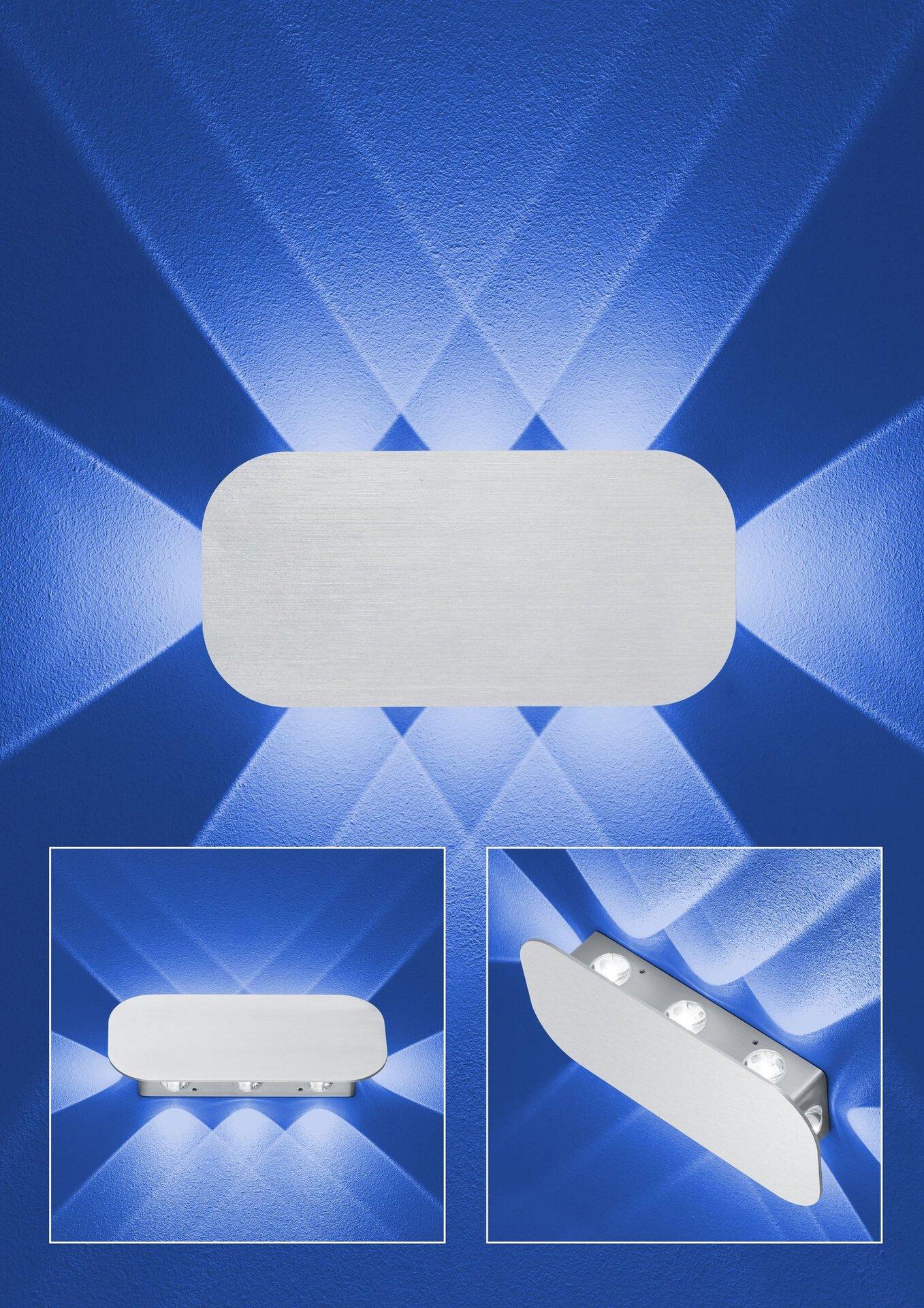 Wand-Aussenleuchte PRINCE B-Leuchten Metall 25 x 12 x 4 cm