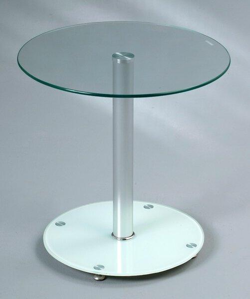 Beistelltisch M2 Kollektion Glas, Holzwerkstoff, Metall weiß lackiert ca. 50 cm x 50 cm x 50 cm
