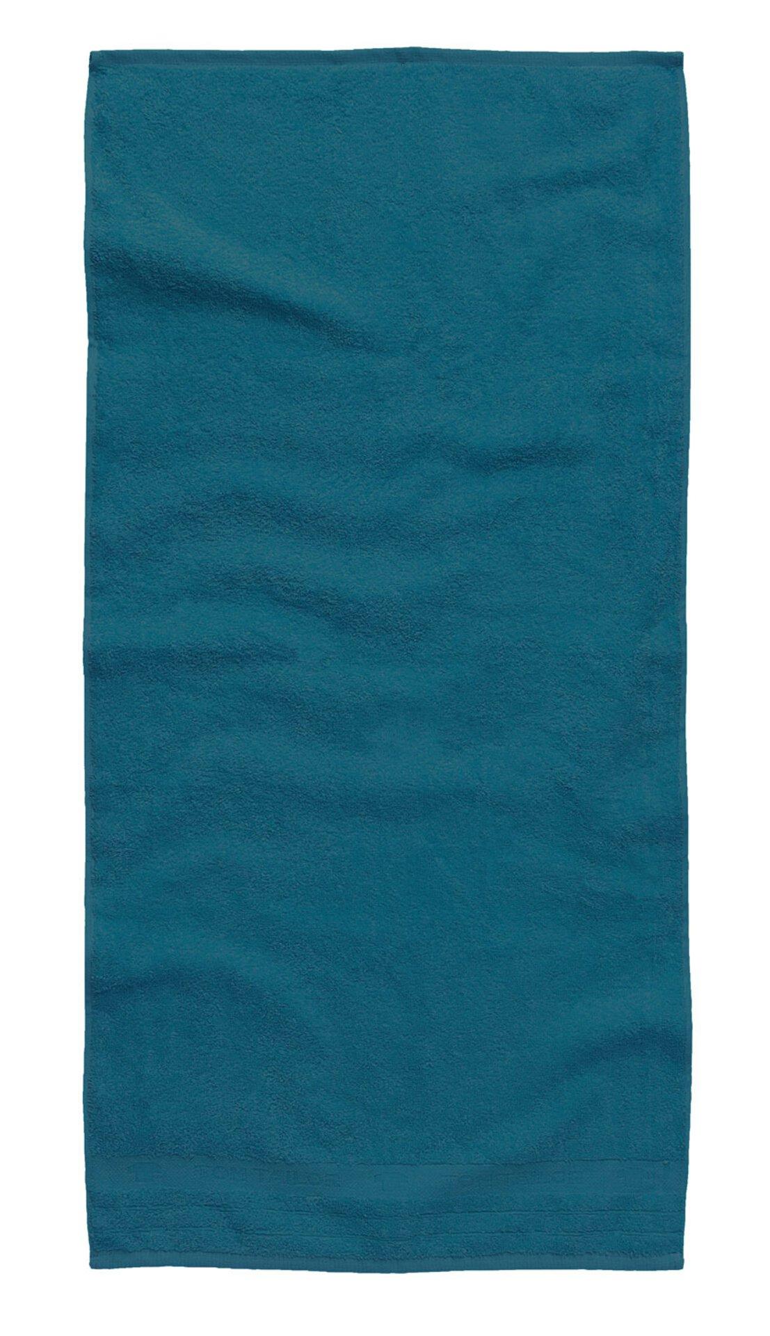 Handtuch Uni Towel Tom Tailor Textil Blau 50 x 100 cm