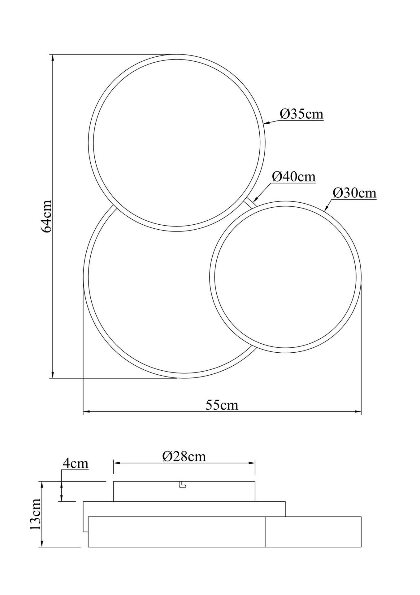 Deckenleuchte KUNDA Globo Metall 48 x 13 x 48 cm