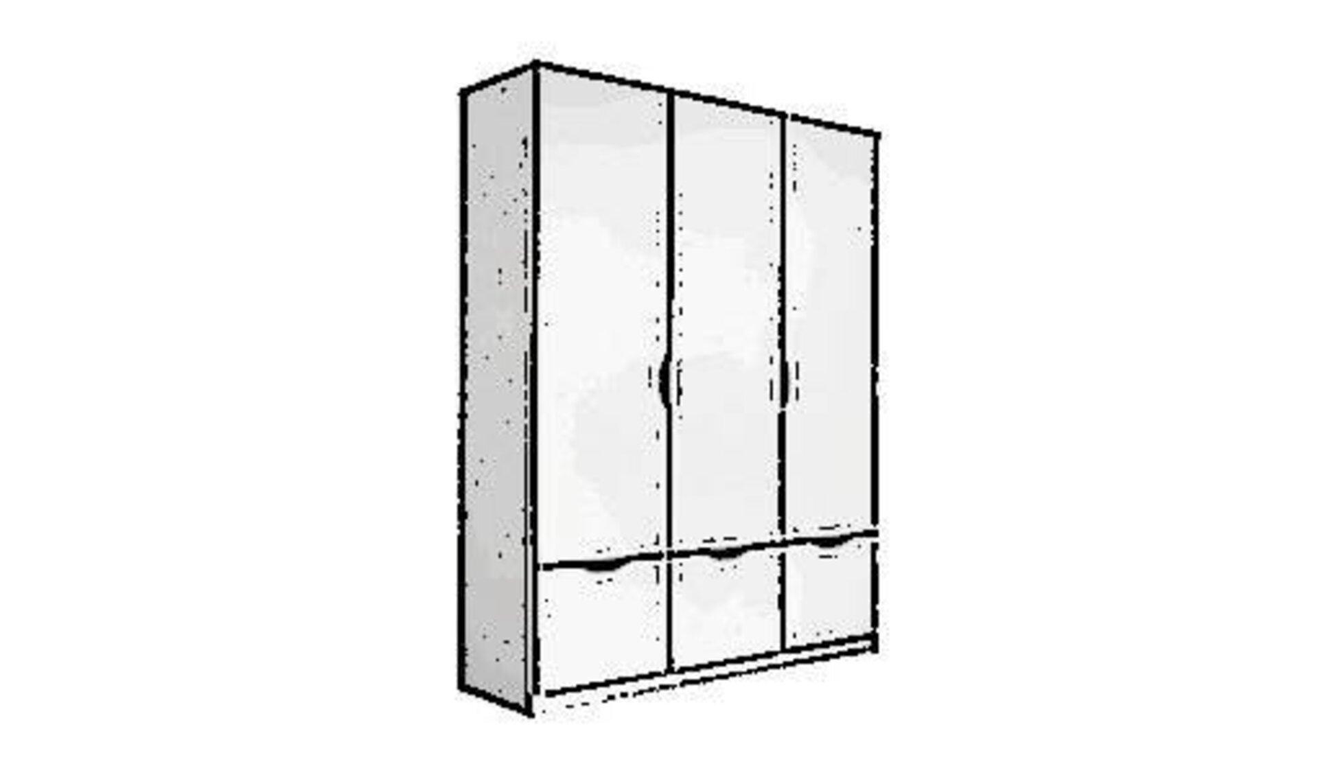 Ein weißer Schlafzimmerschrank mit 3 Schranktüren dient als Sinnbild für die Kategorie Schlafzimmerschränke.
