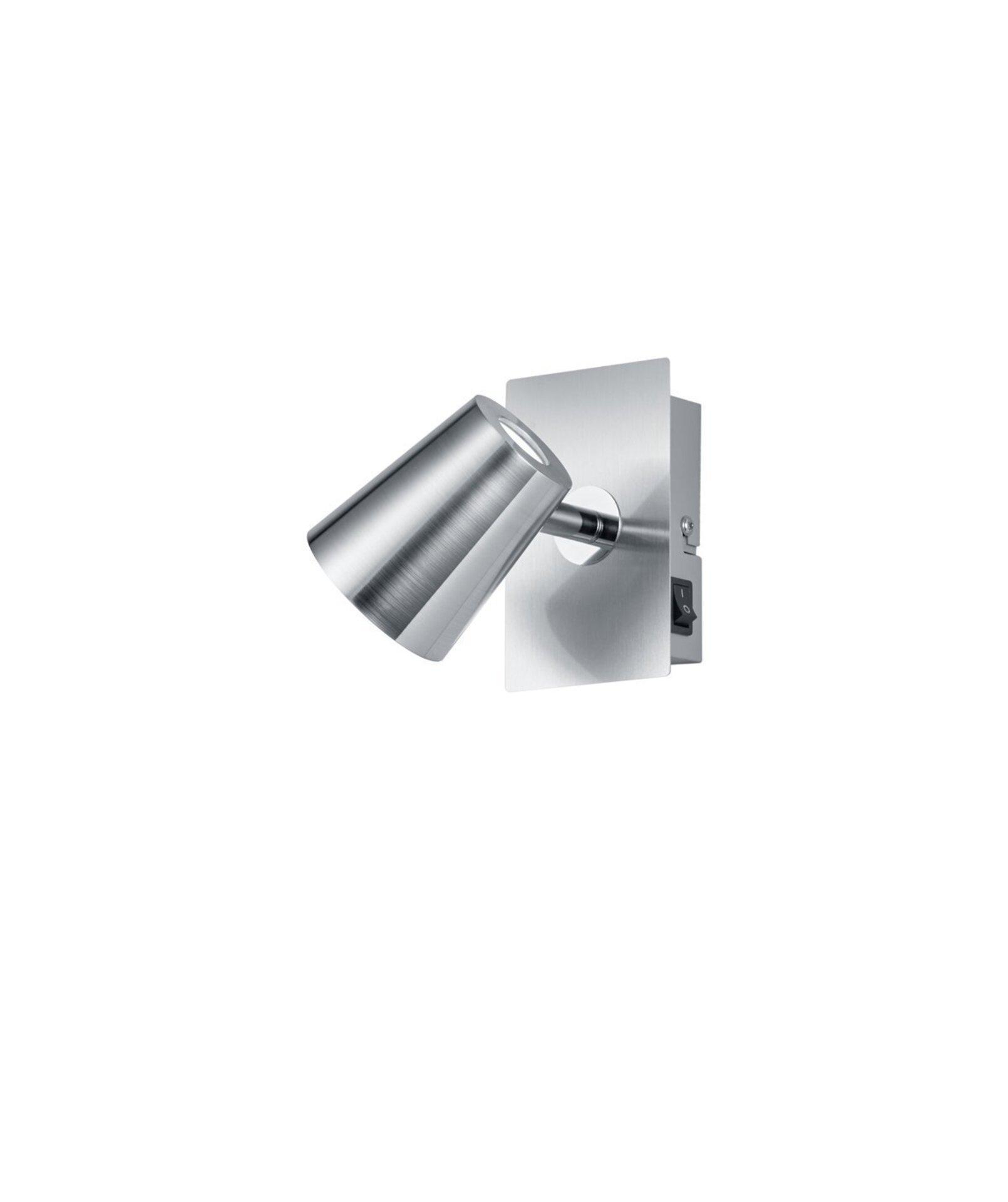 Strahler Narcos Trio Leuchten Metall silber 12 x 8 cm