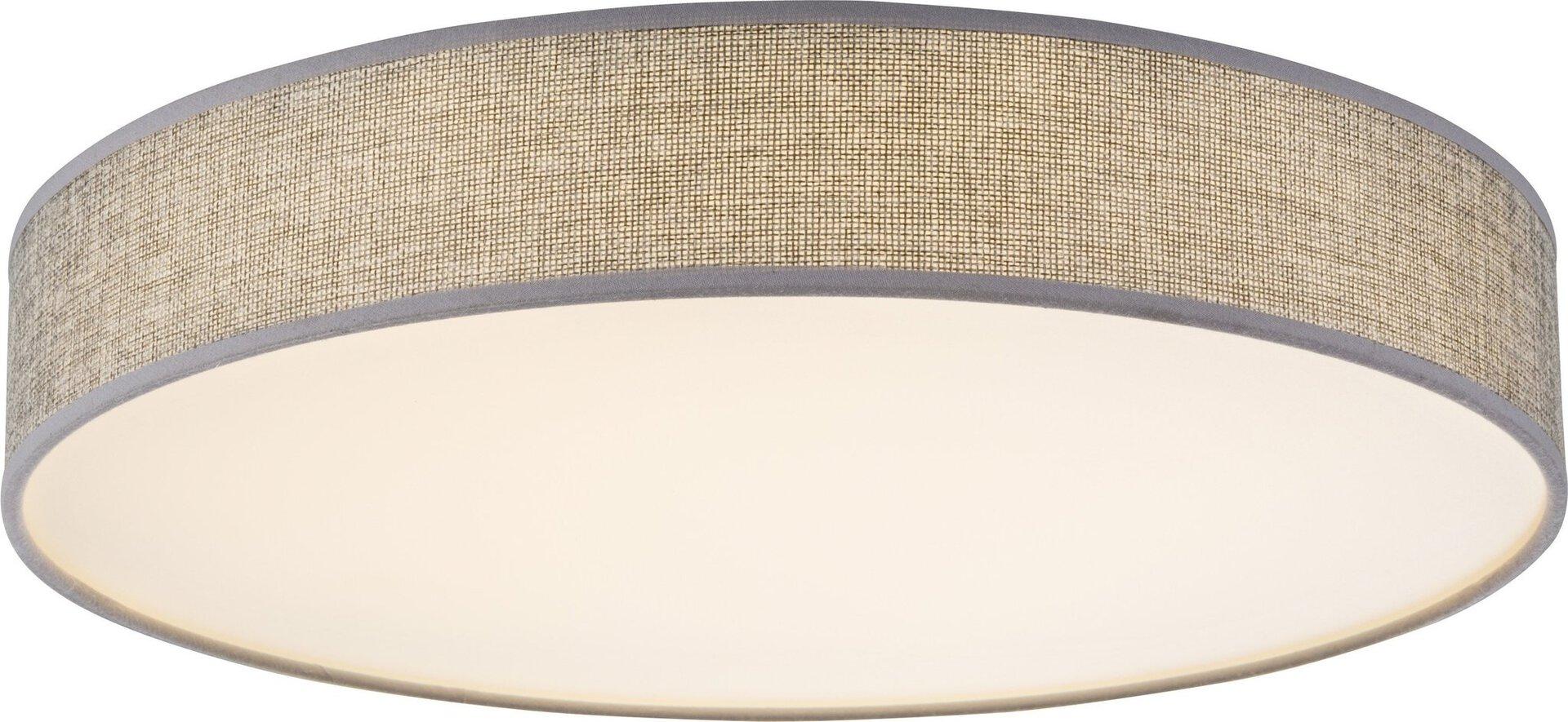 Deckenleuchte PACO Globo Textil weiß 40 x 10 x 40 cm