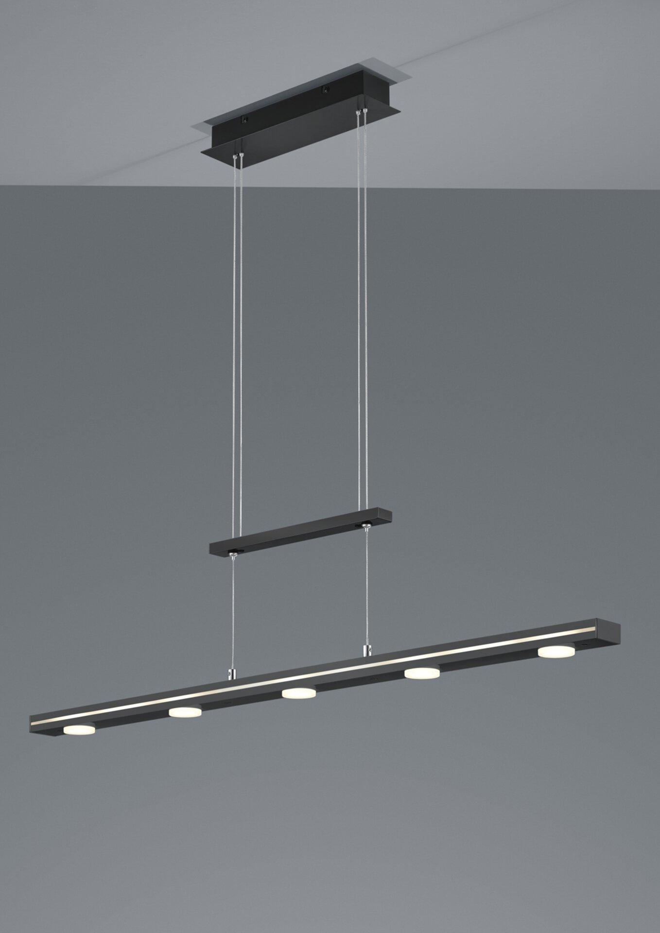 Pendelleuchte Lacal Trio Leuchten Metall schwarz 8 x 160 x 100 cm