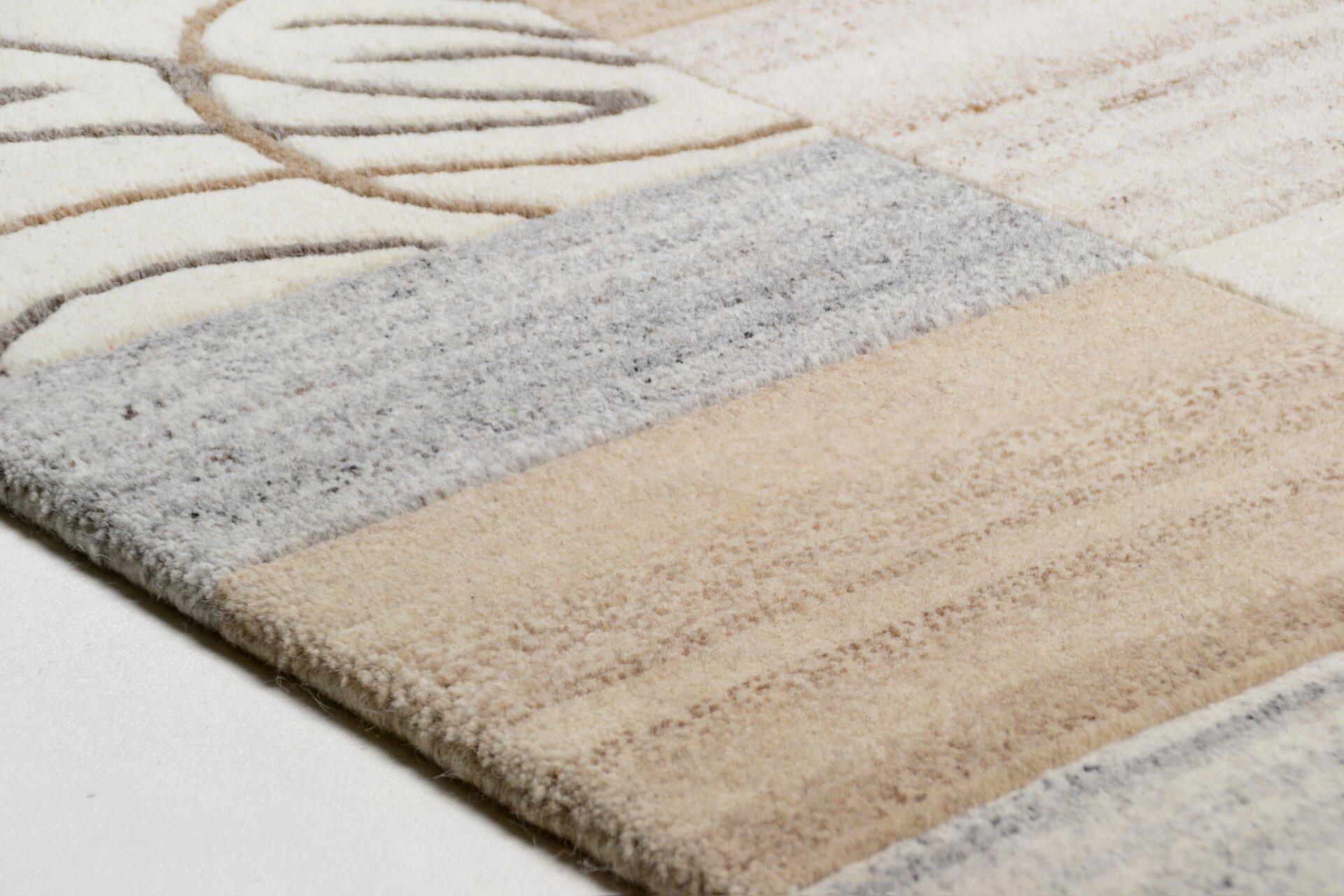 Handknüpfteppich Natpur Theko Textil 1 cm
