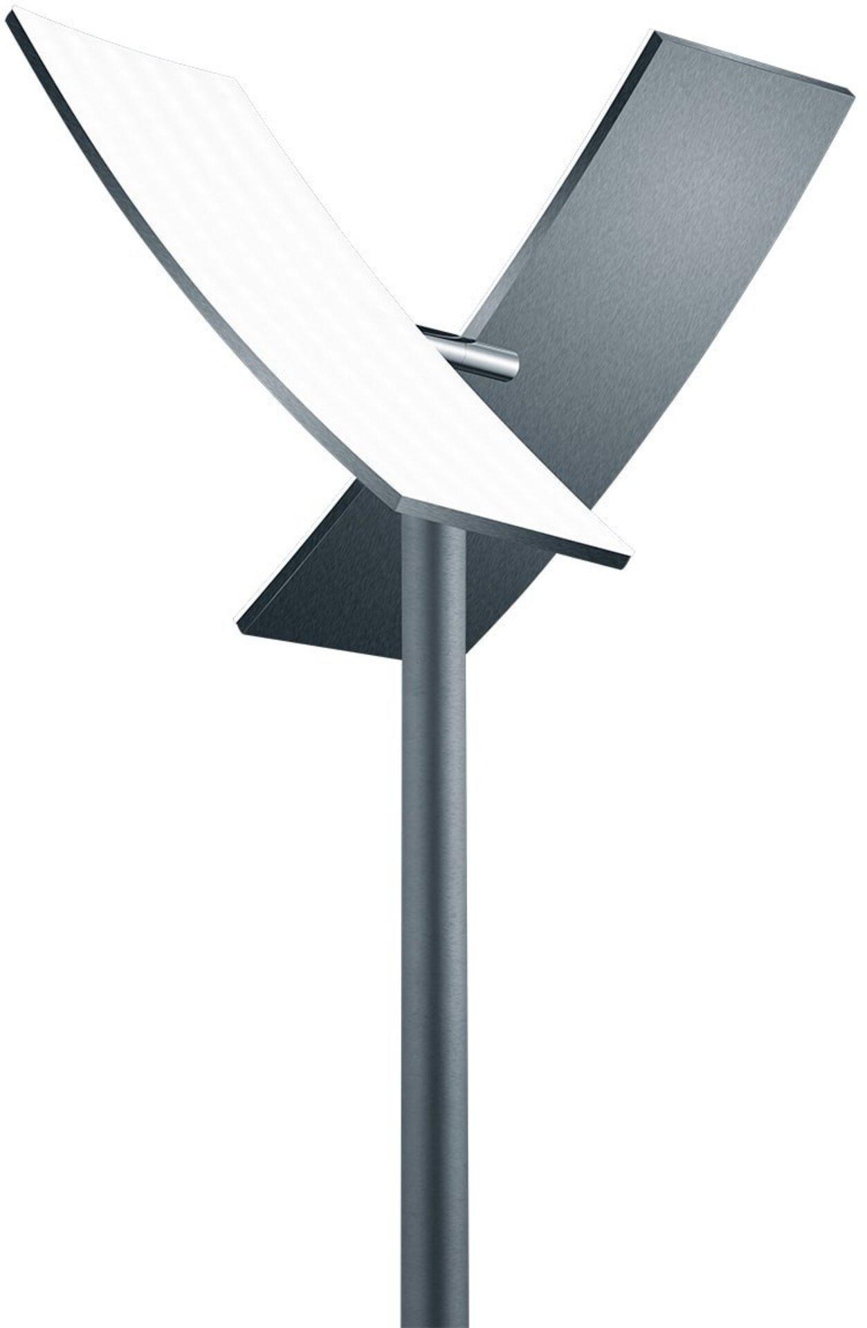 Stehleuchte DUO B-Leuchten Metall grau 38 x 182 x 38 cm