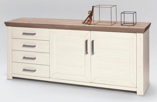 Sideboard set One by Musterring Holzwerkstoff Pino Aurelio / Eiche Nelson ca. 44 cm x 79 cm x 184 cm