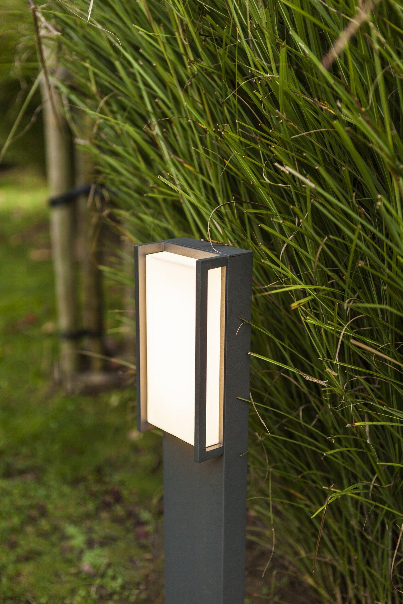 Wege-Außenleuchte Qubo Eco-Light Metall 11 x 75 x 9 cm
