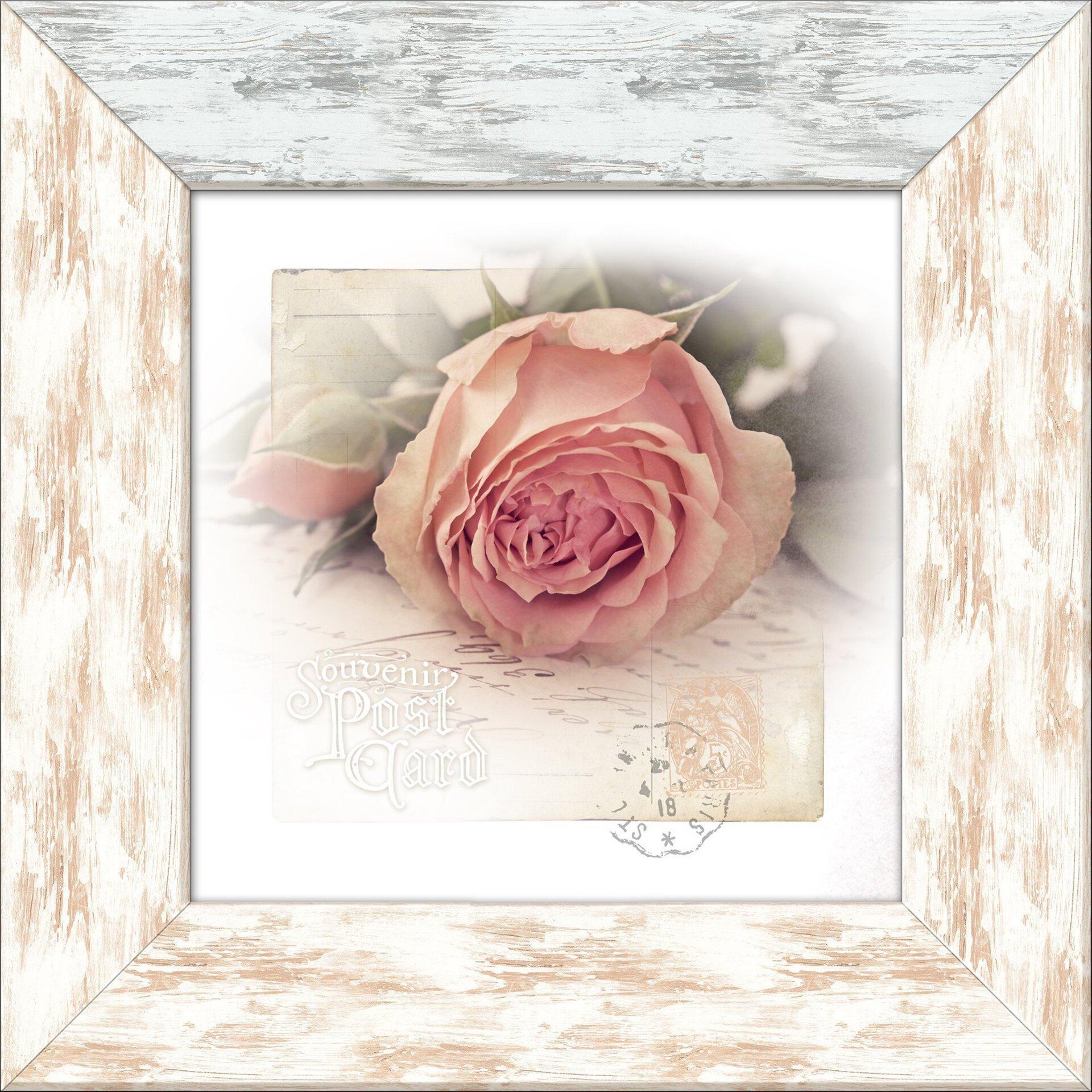 Bild Herbstrose II Pro-Art Holzwerkstoff mehrfarbig 44 x 44 x 1 cm