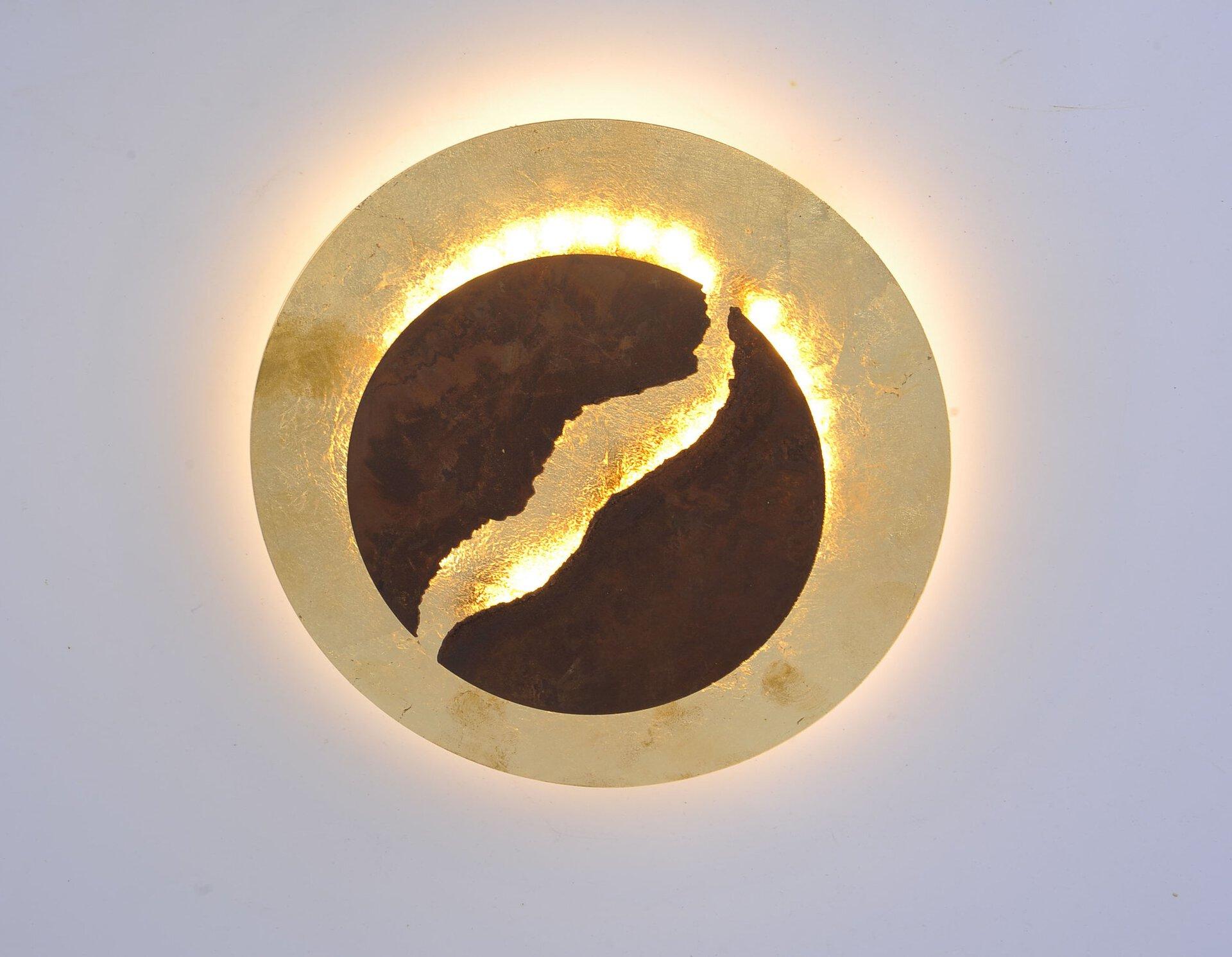 Deckenleuchte NEVIS Paul Neuhaus Metall braun 30 x 9 x 30 cm