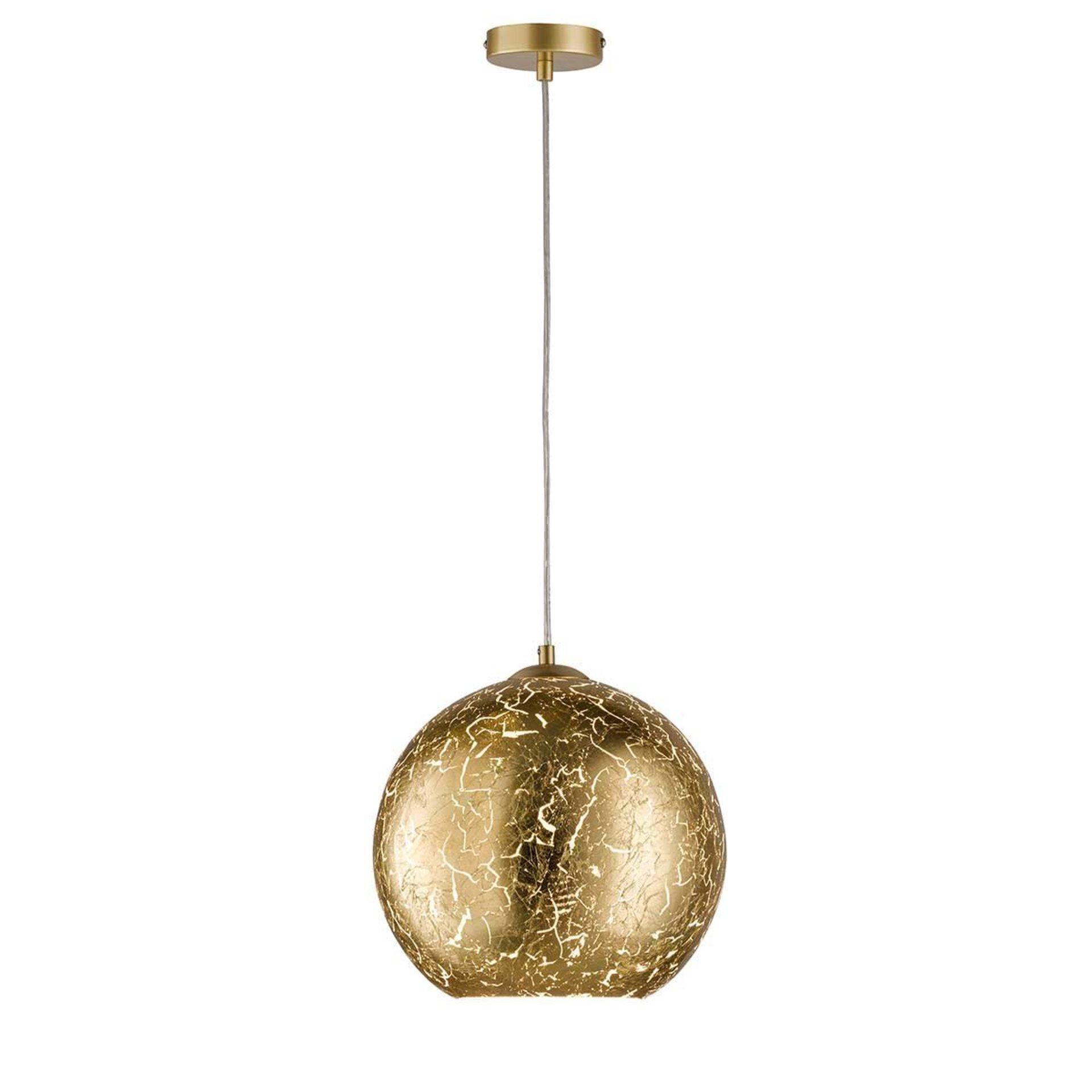 Hängeleuchte Fara Wofi Leuchten Metall gold 30 x 150 x 30 cm