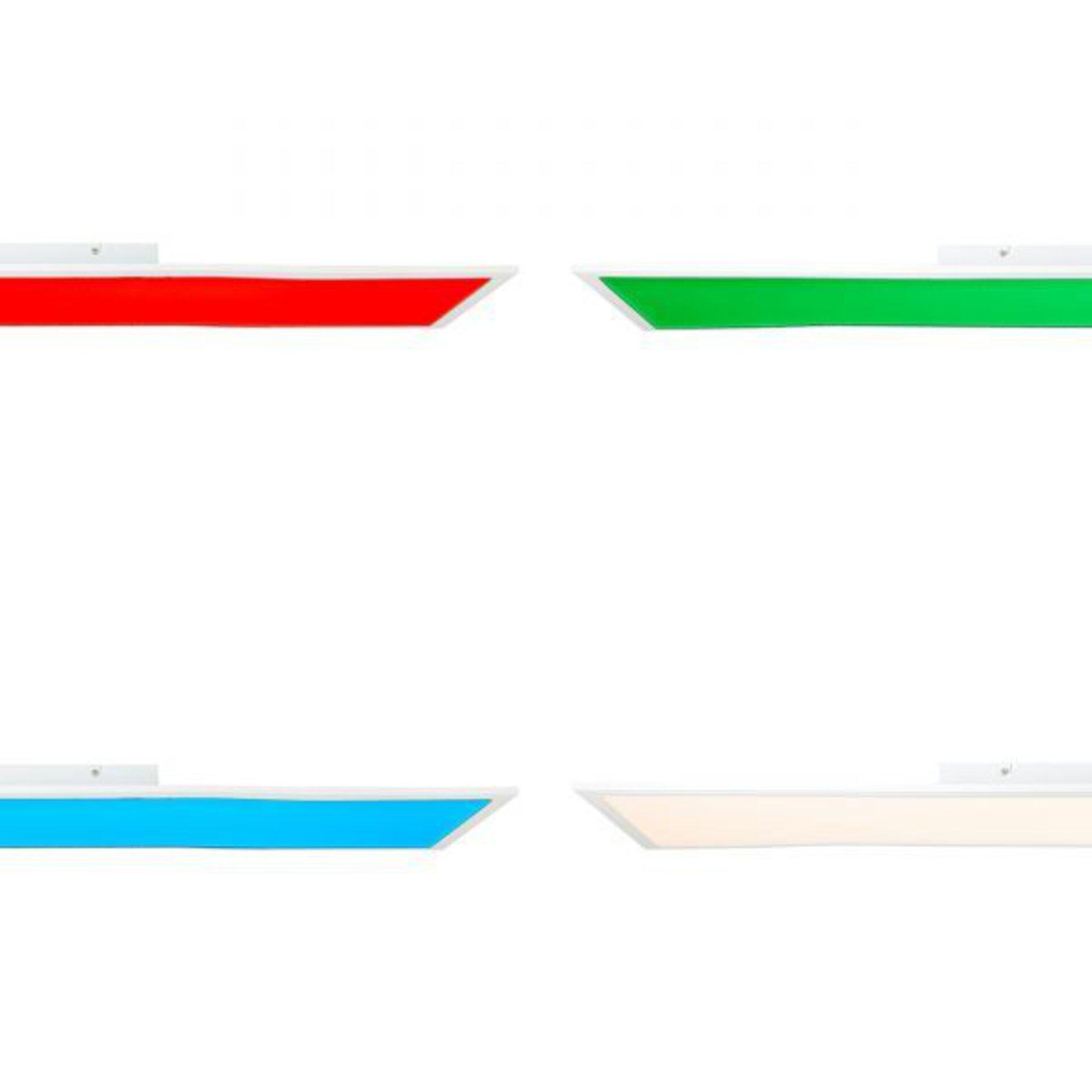 Deckenleuchte ABIE Brilliant Metall weiß 30 x 6 x 120 cm
