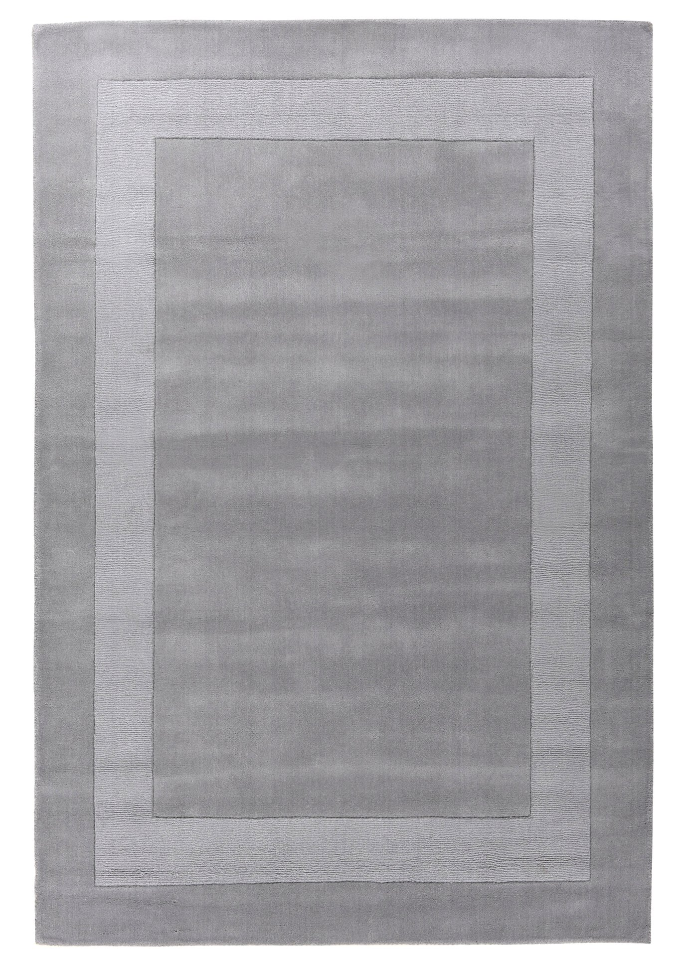 Handtuftteppich Usedom Theko Textil grau 1 x 1 cm