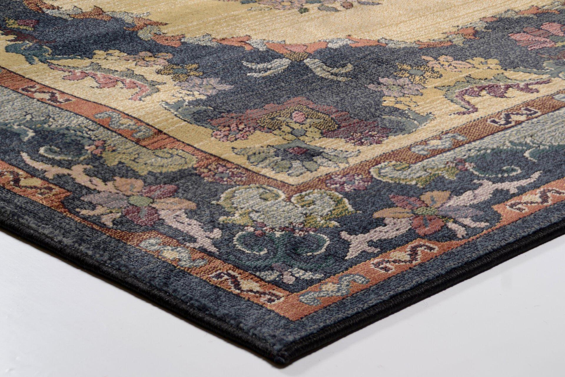Maschinenwebteppich Gabiro Theko Textil Blau 200 x 285 cm