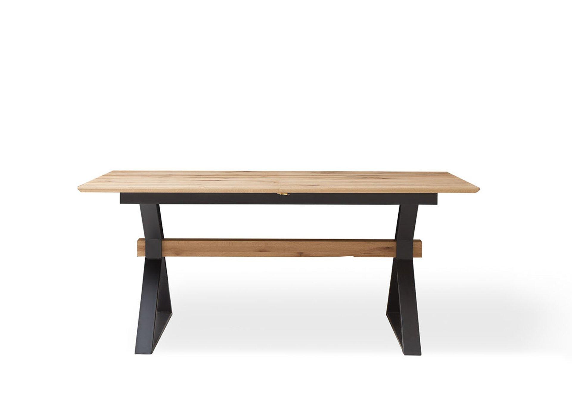 Tisch mit fester Platte CHARON MONDO Holzwerkstoff braun 76 x 100 x 180 cm
