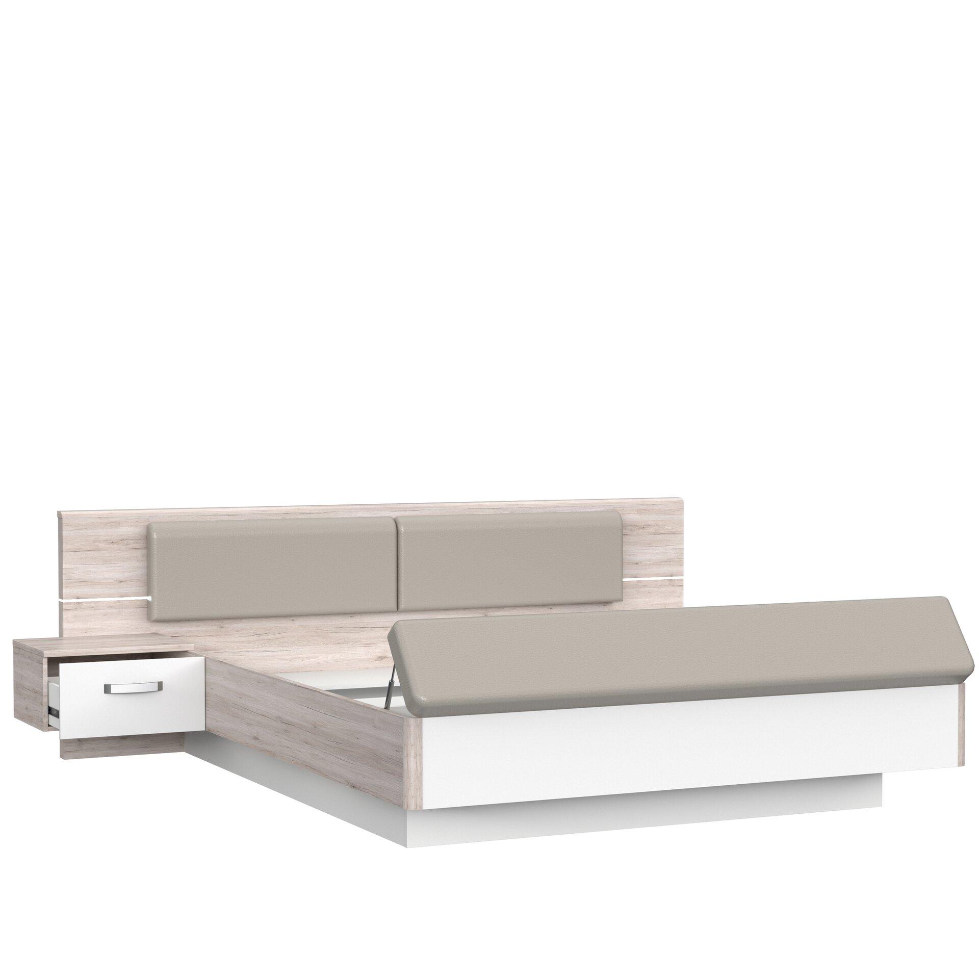 Bettanlage RONDINO Dreamoro Holzwerkstoff braun 237 x 88 x 285 cm