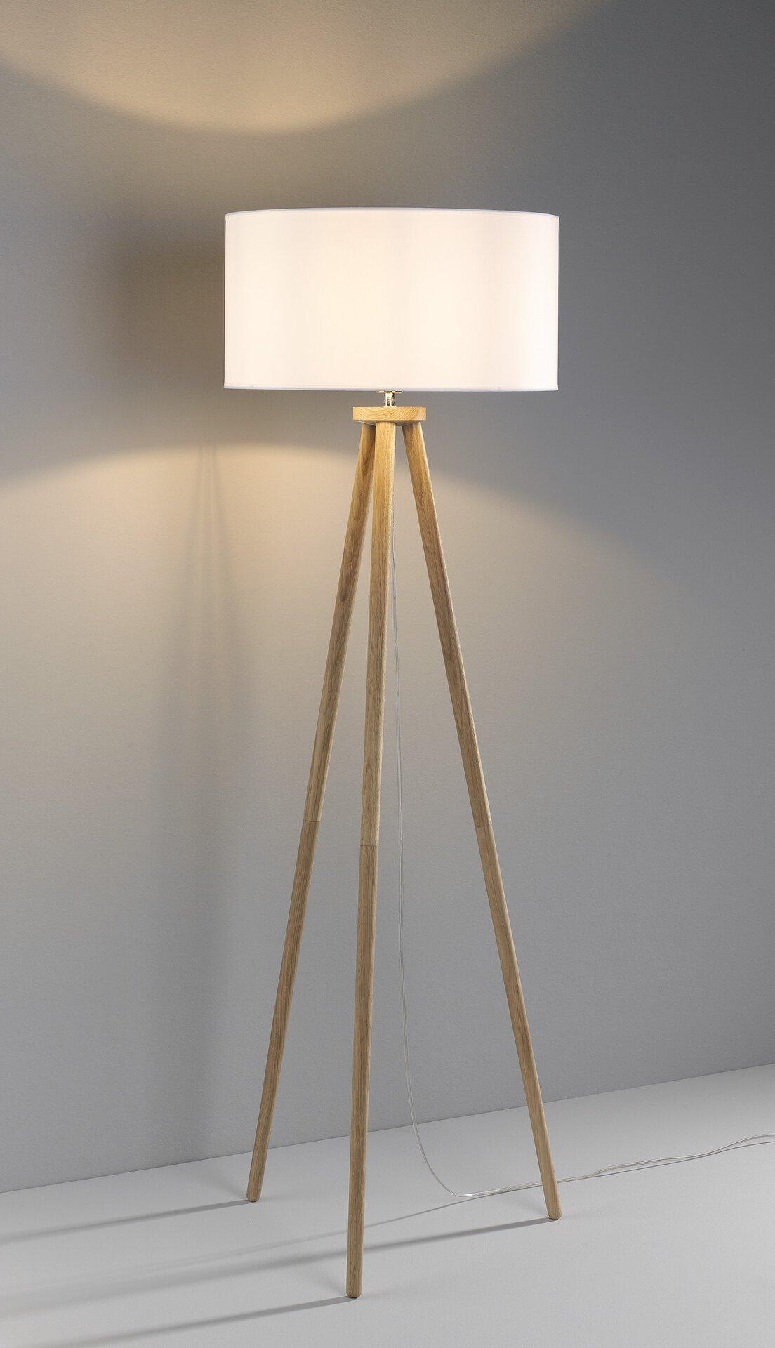 Stehleuchte ENNIE MONDO Holz braun 50 x 154 x 50 cm