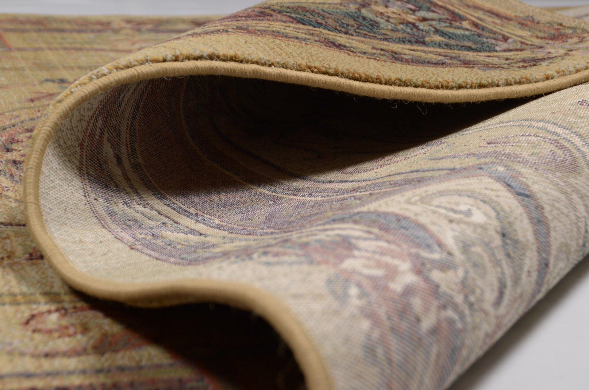 Maschinenwebteppich Gabiro Theko Textil braun 120 x 180 cm