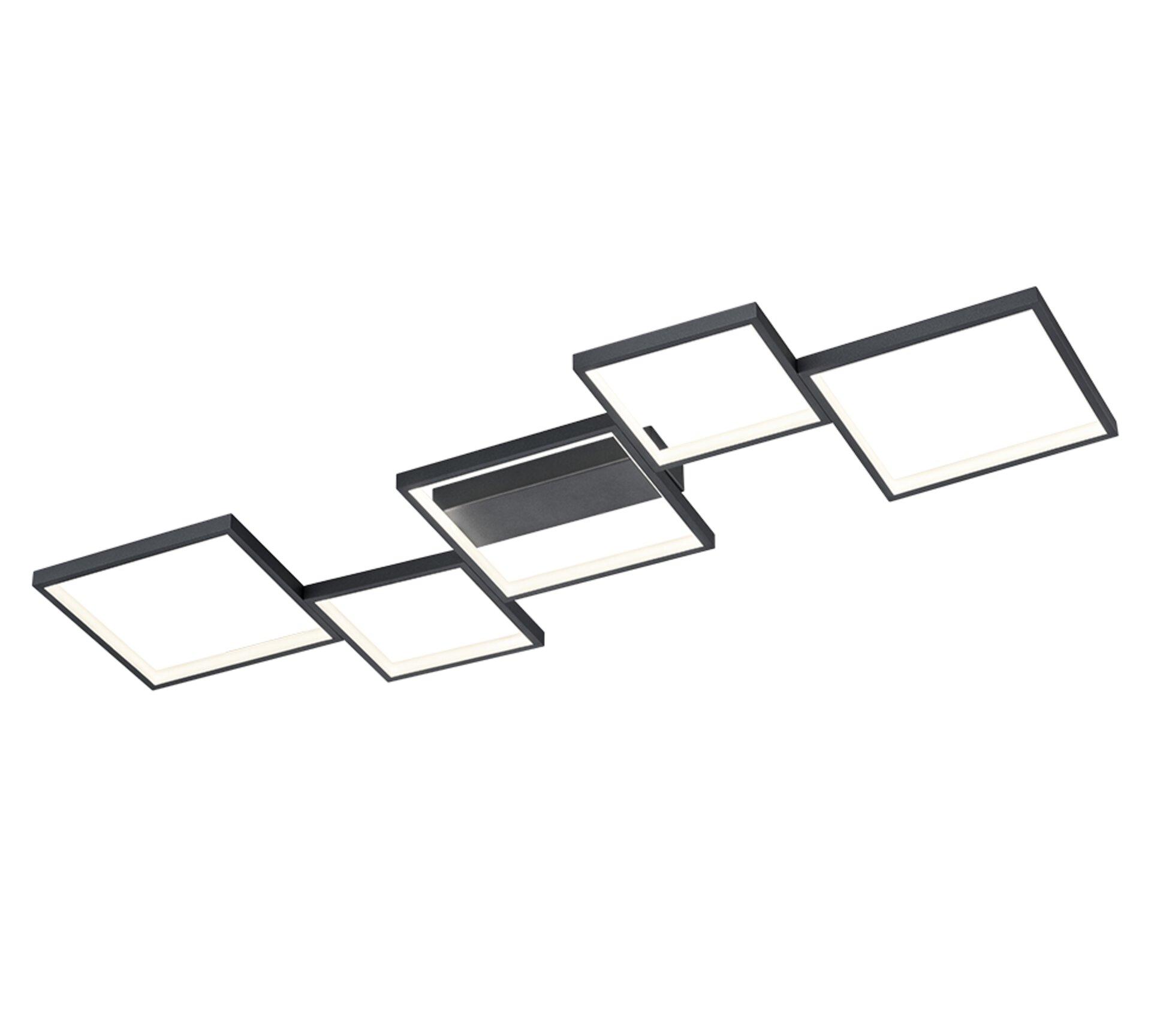 Deckenleuchte Sorrento Trio Leuchten Metall 49 x 6 x 120 cm
