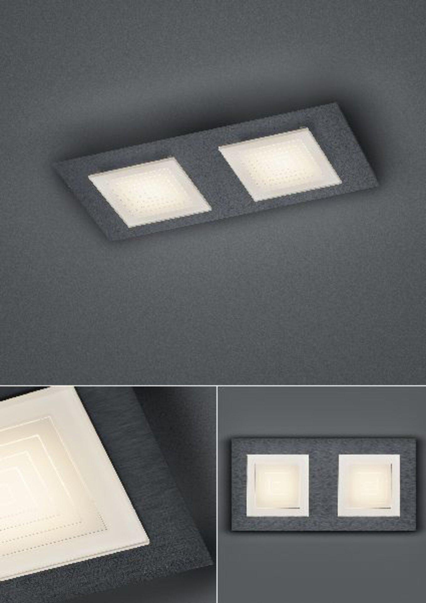 Deckenleuchte Ino Bankamp Metall grau 14 x 6 x 28 cm