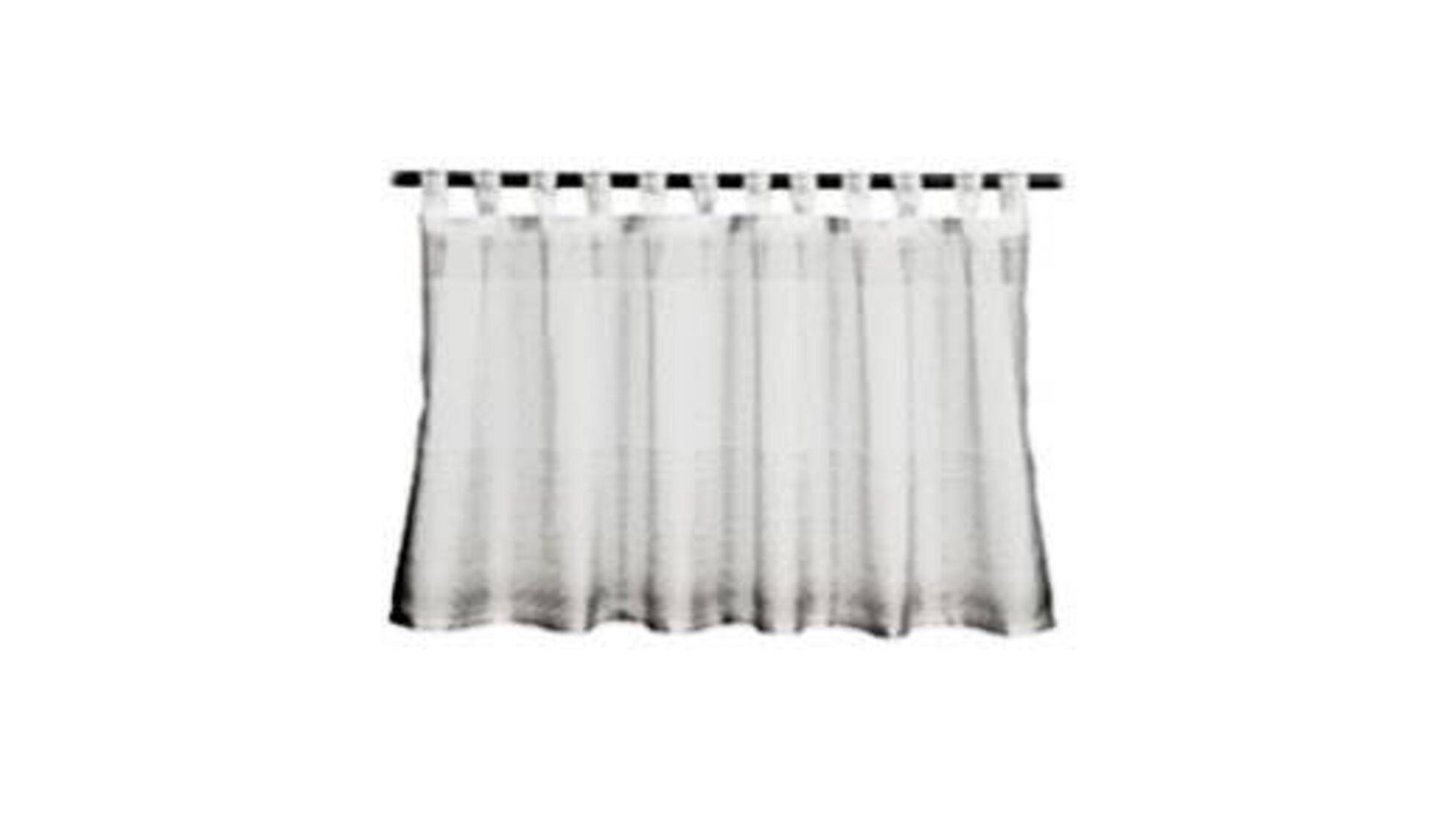 Panneaux ist eine halbhohe Gardine. Das Icon hier zeigt einen weißen, in Falten gelegten Vorhang an einer Gardinenstange.