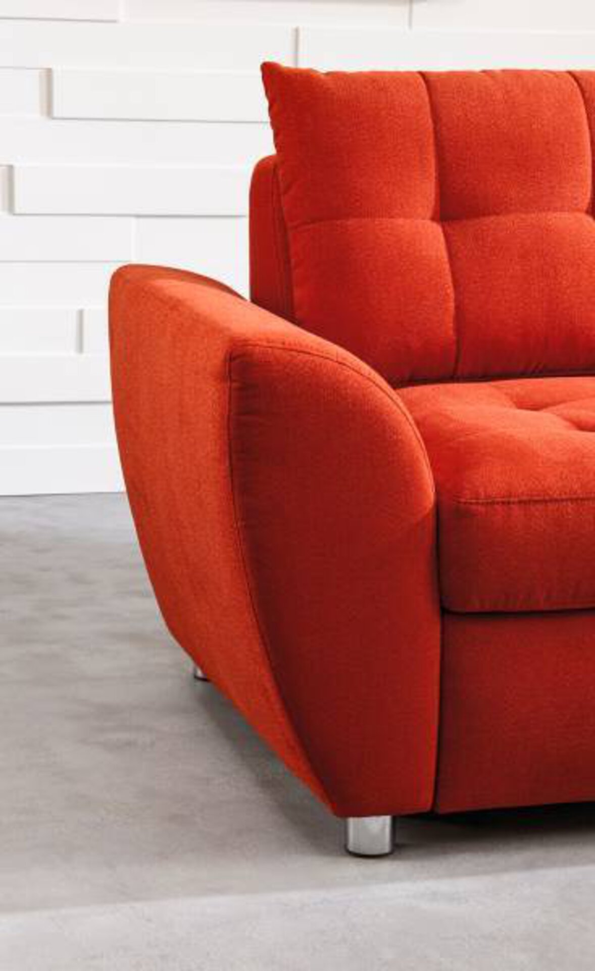Sofa 2-Sitzer SYSTEMO Vito Textil orange 140 x 90 x 97 cm