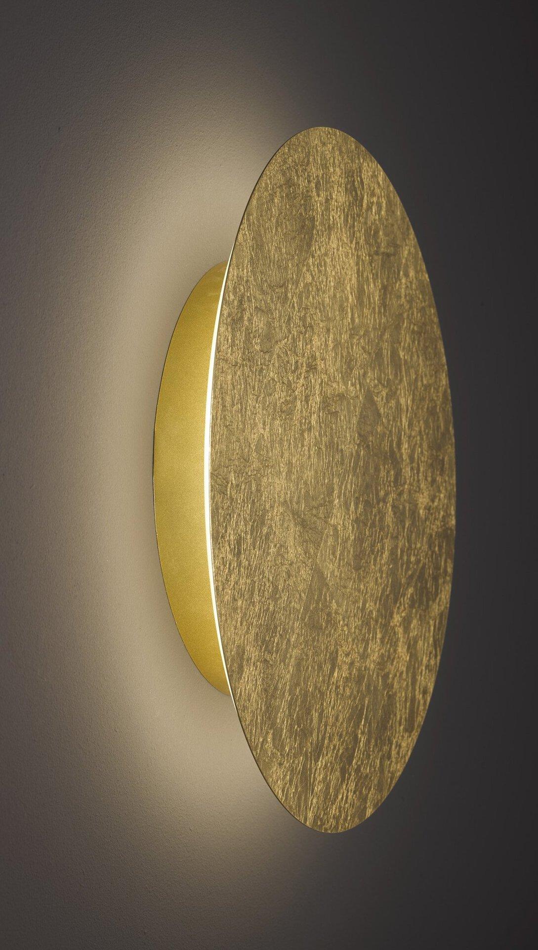 Wandleuchte Angers Wofi Leuchten Metall gold 12 x 3 x 12 cm