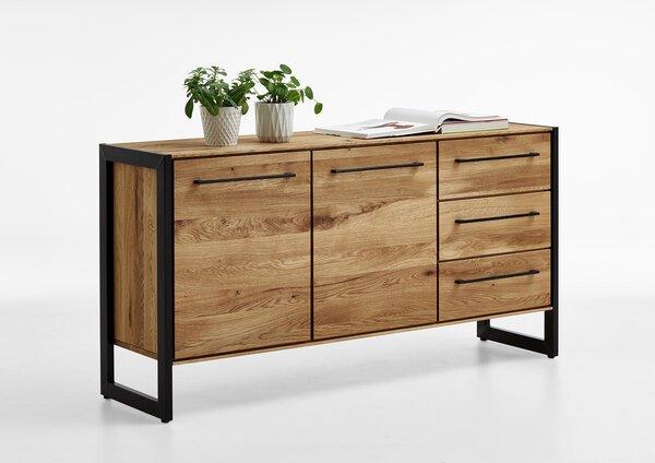 Sideboard VALMONDO Holz Charakter Eiche massiv ca. 42 cm x 84 cm x 159 cm
