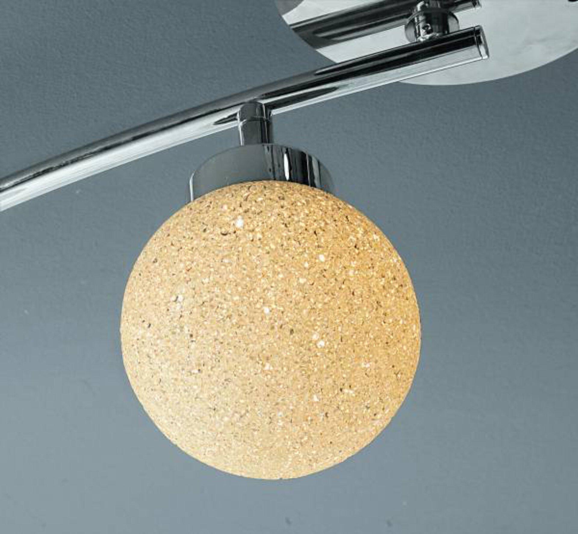 Deckenleuchte MIKO Leuchtendirekt Metall silber 73 x 21 x 80 cm