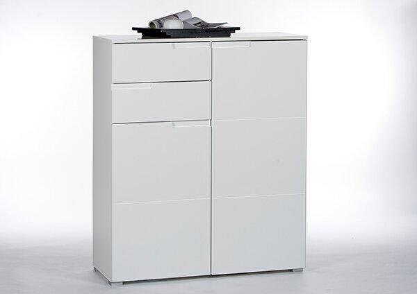Kommode inbuy Holzwerkstoff Weiß/Weiß Hochglanz ca. 40 cm x 119 cm x 100 cm