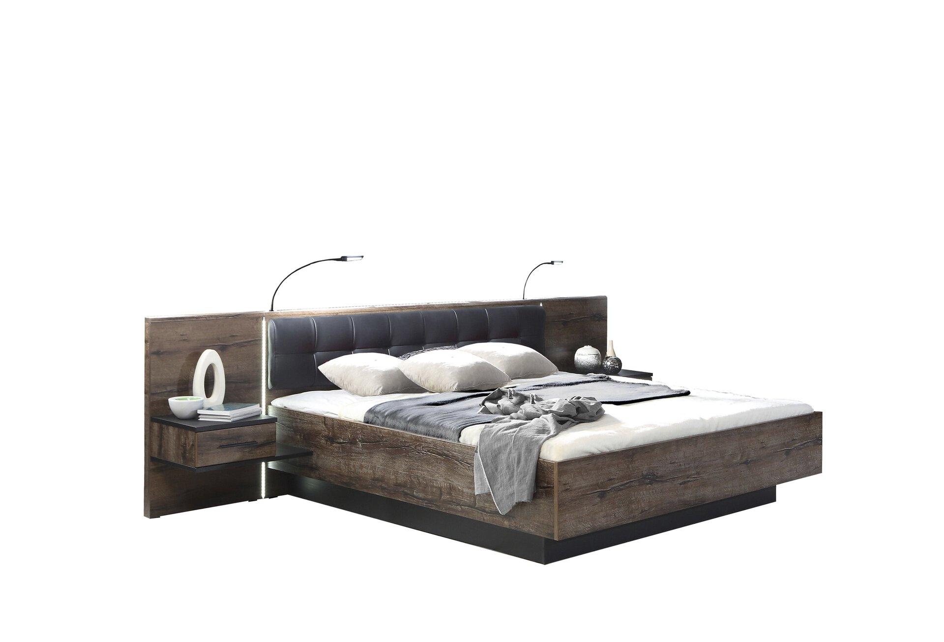 Bettanlage BELLEVUE Dreamoro Holzwerkstoff braun 209 x 97 x 305 cm