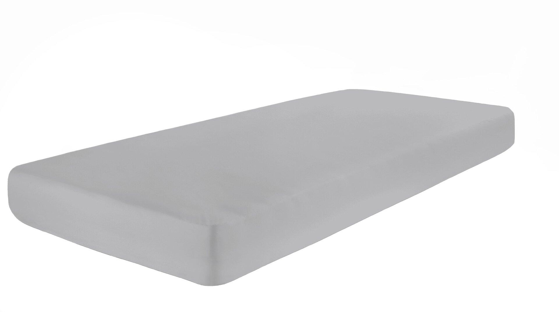 Elastan Jersey Boxspring-Spannbetttuch Pro Night Textil silber 2 x 2 cm