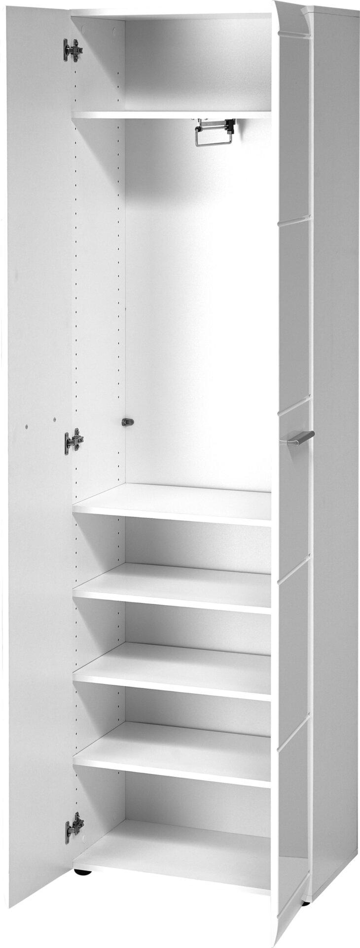 Garderobenschrank ADANA Germania Holzwerkstoff weiß 37 x 197 x 59 cm