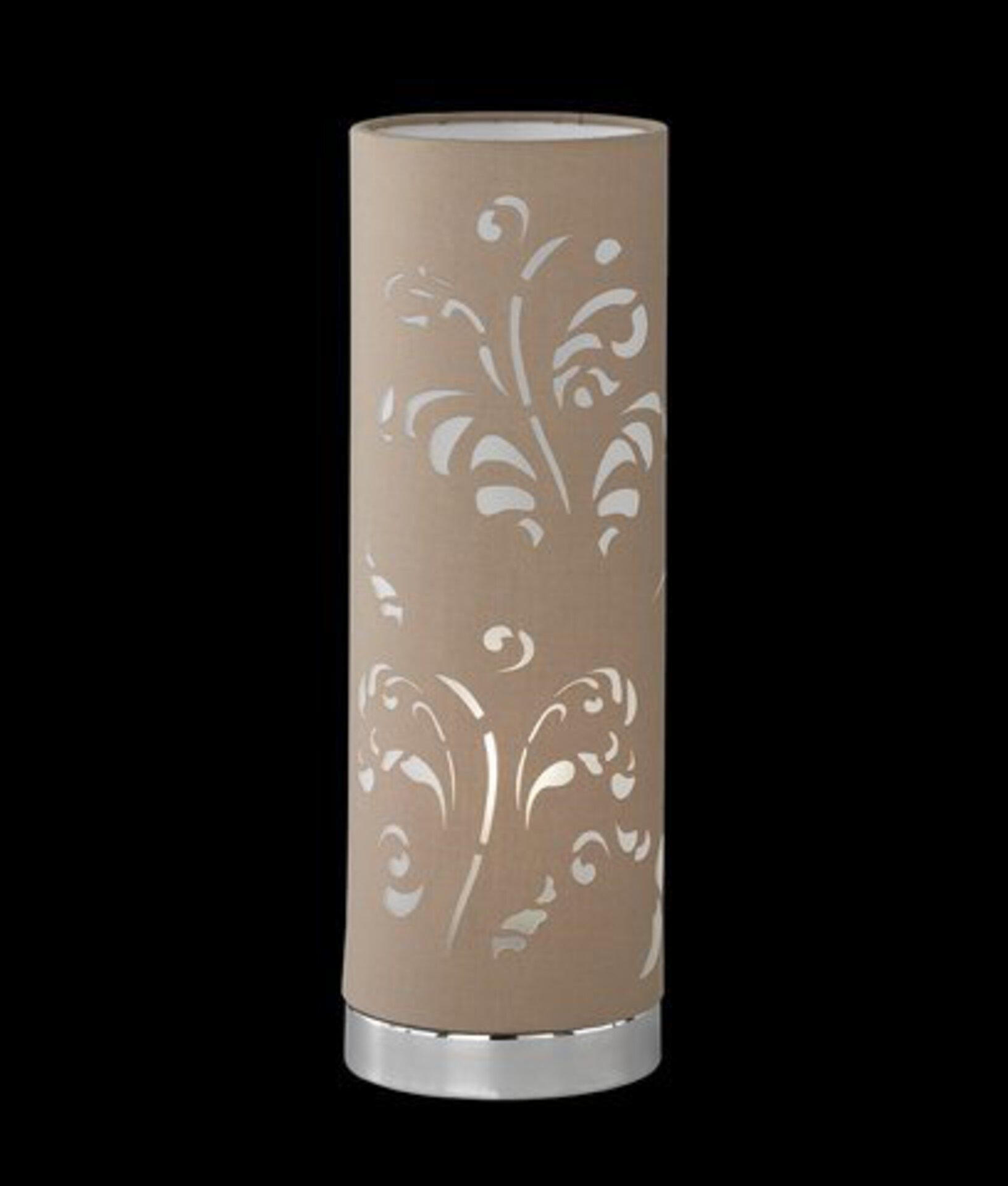 Tischleuchte Flora Fischer-Honsel Metall silber 12 x 35 x 12 cm