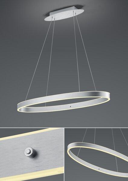 Hängeleuchte B-Leuchten Metall alu eloxiert ca. 90 cm x 150 cm x 90 cm