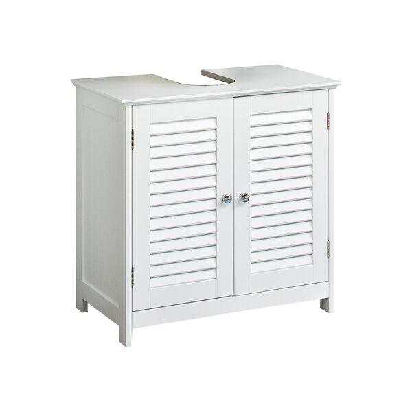 Waschbeckenunterschrank Jasper PELIPAL Holzwerkstoff Weiß Lamelle