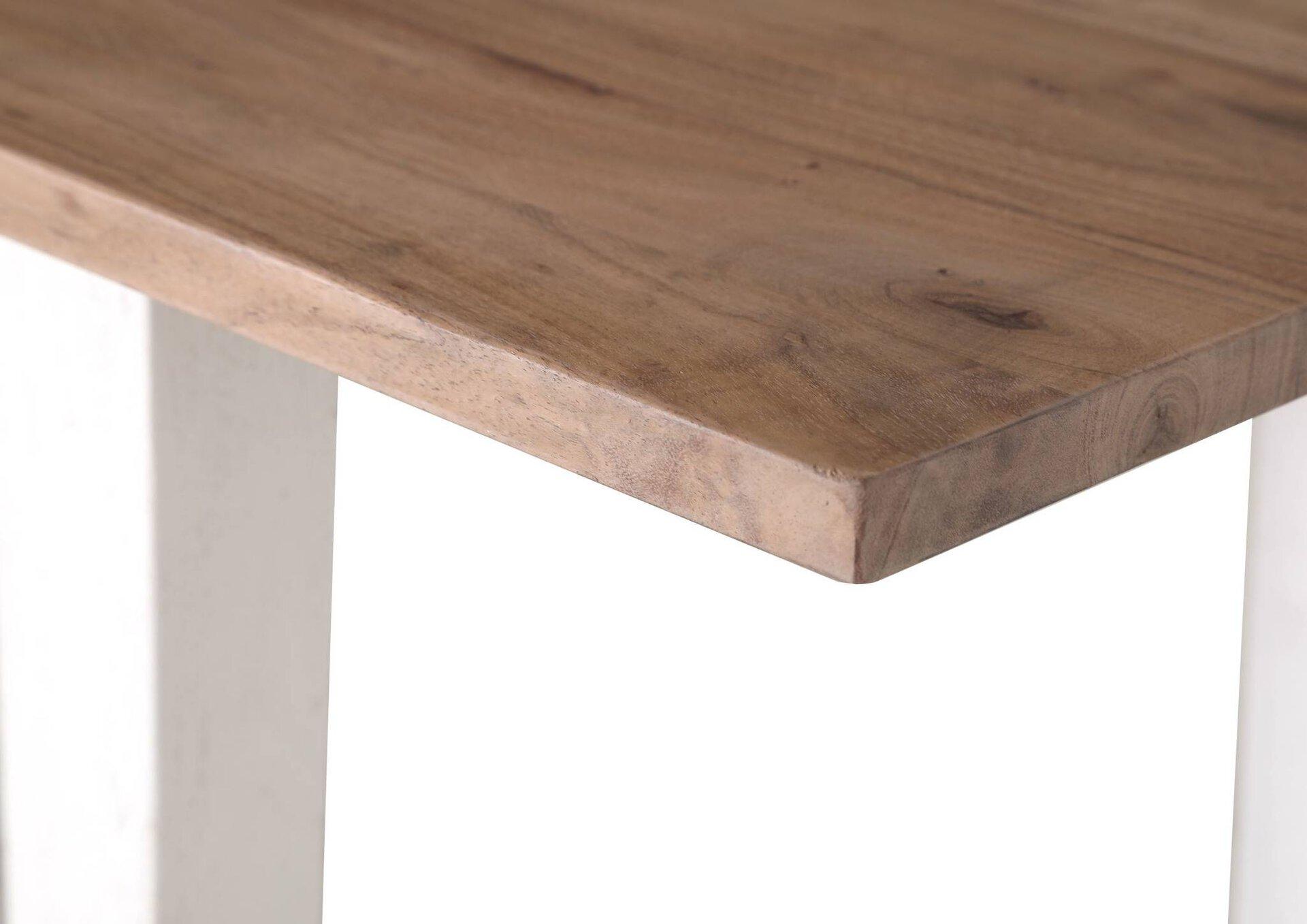 Esstisch Mick Gutmann Factory Holz weiß 80 x 76 x 120 cm