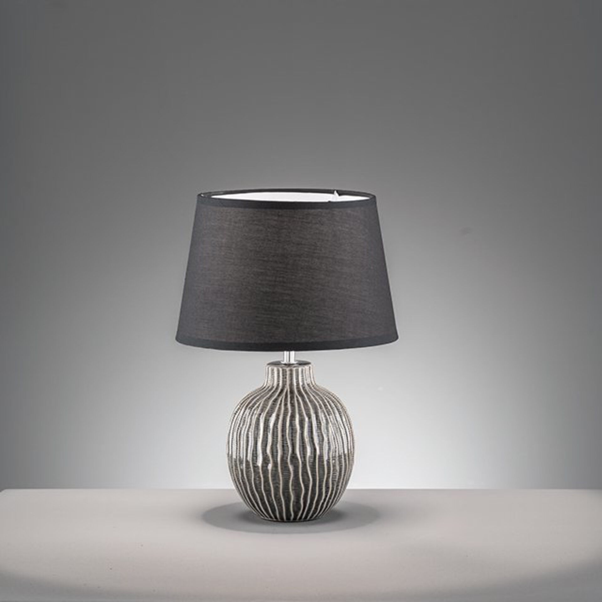 Tischleuchte Anau Fischer-Honsel Keramik grau 35 x 45 x 35 cm