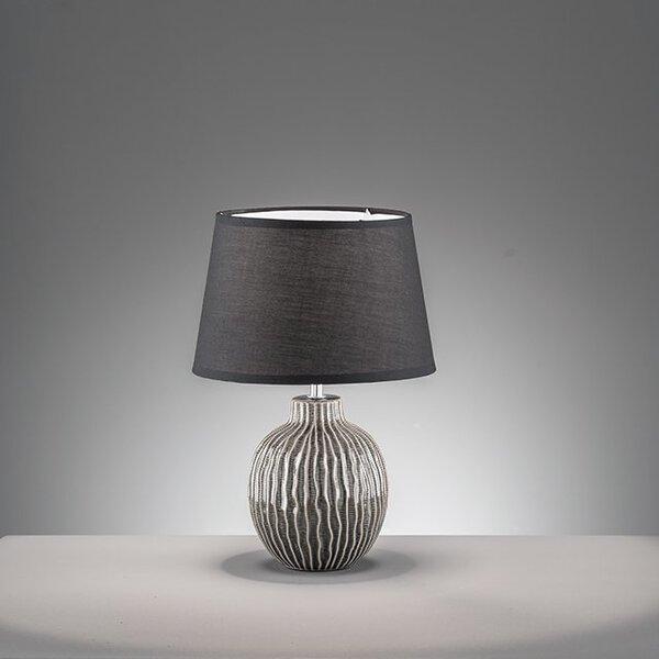 Tischleuchte Fischer-Honsel  Keramik grau/beige, schwarz ca. 35 cm x 45 cm x 35 cm
