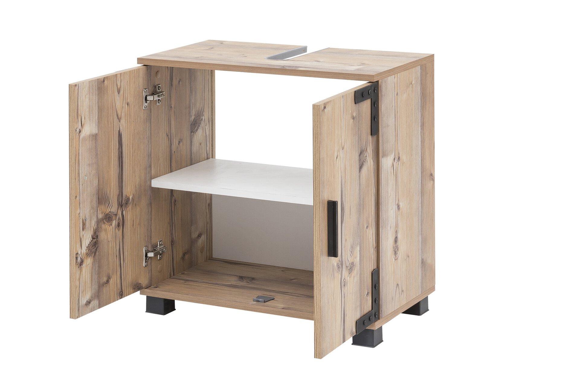 Waschbeckenunterschrank Zadar Schildmeyer Holzwerkstoff braun